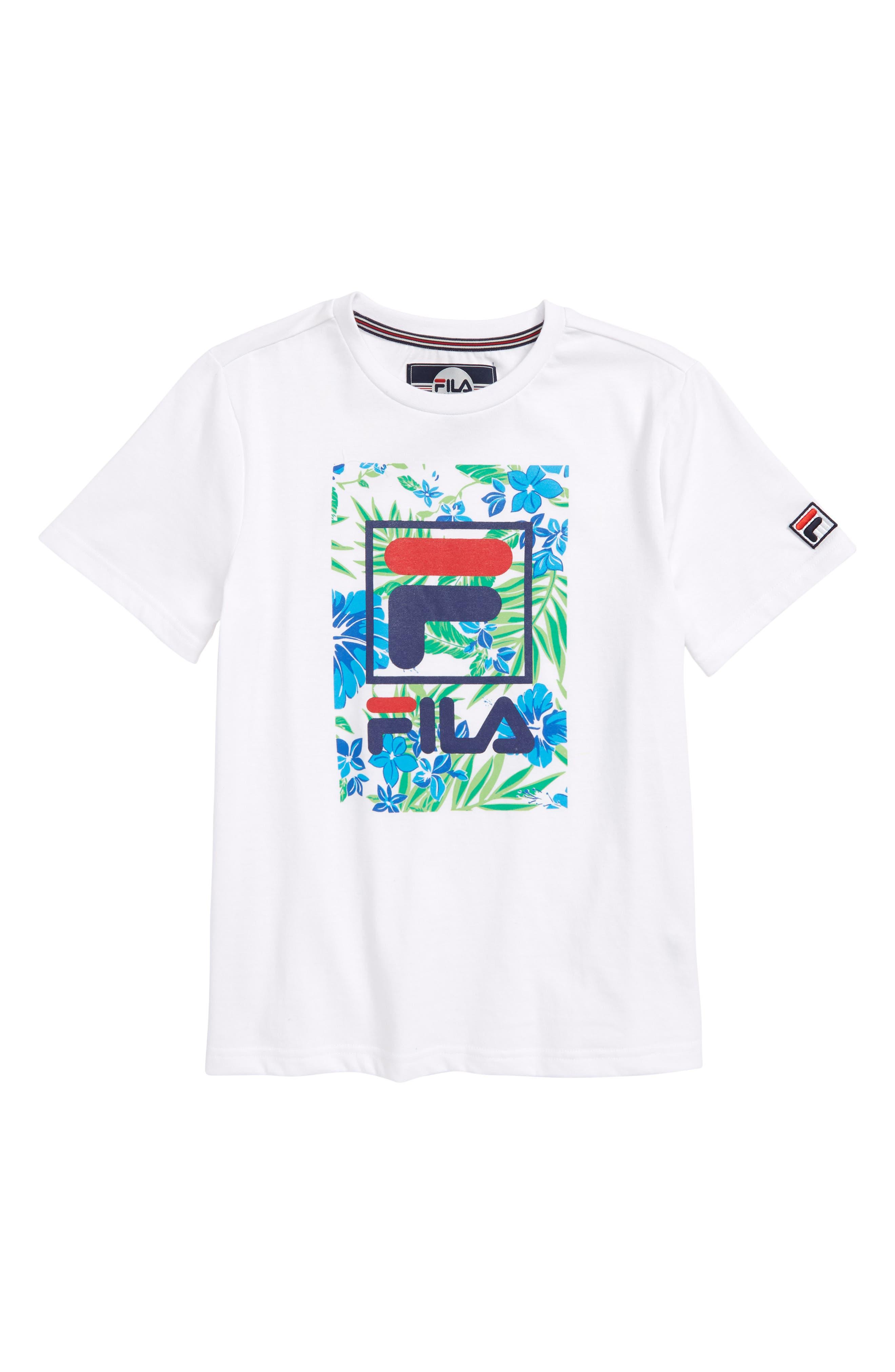 Tropic Logo T-Shirt,                             Main thumbnail 1, color,                             White