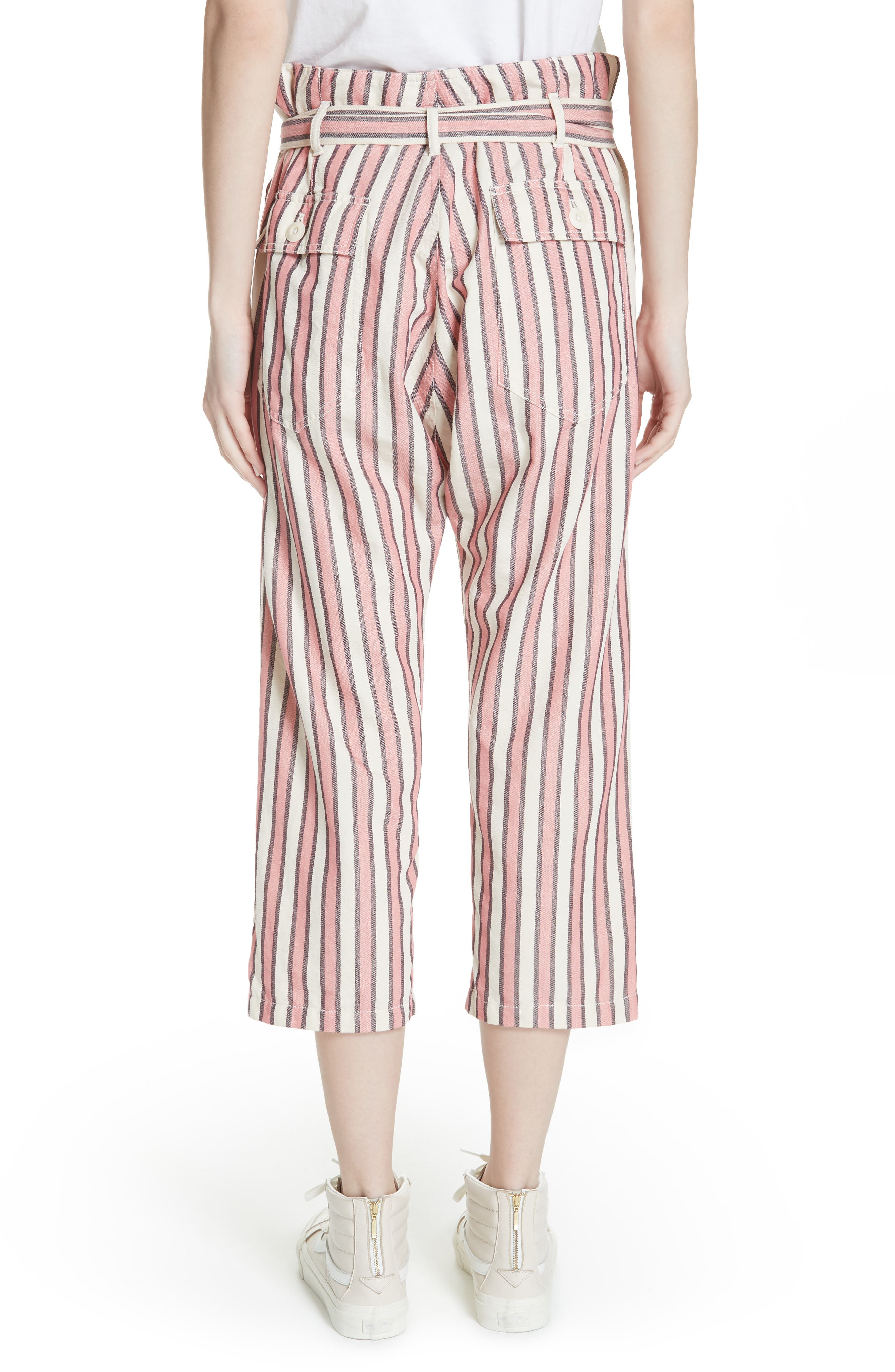 The Convertible Trousers,                             Alternate thumbnail 2, color,                             Pink Taffy Stripe