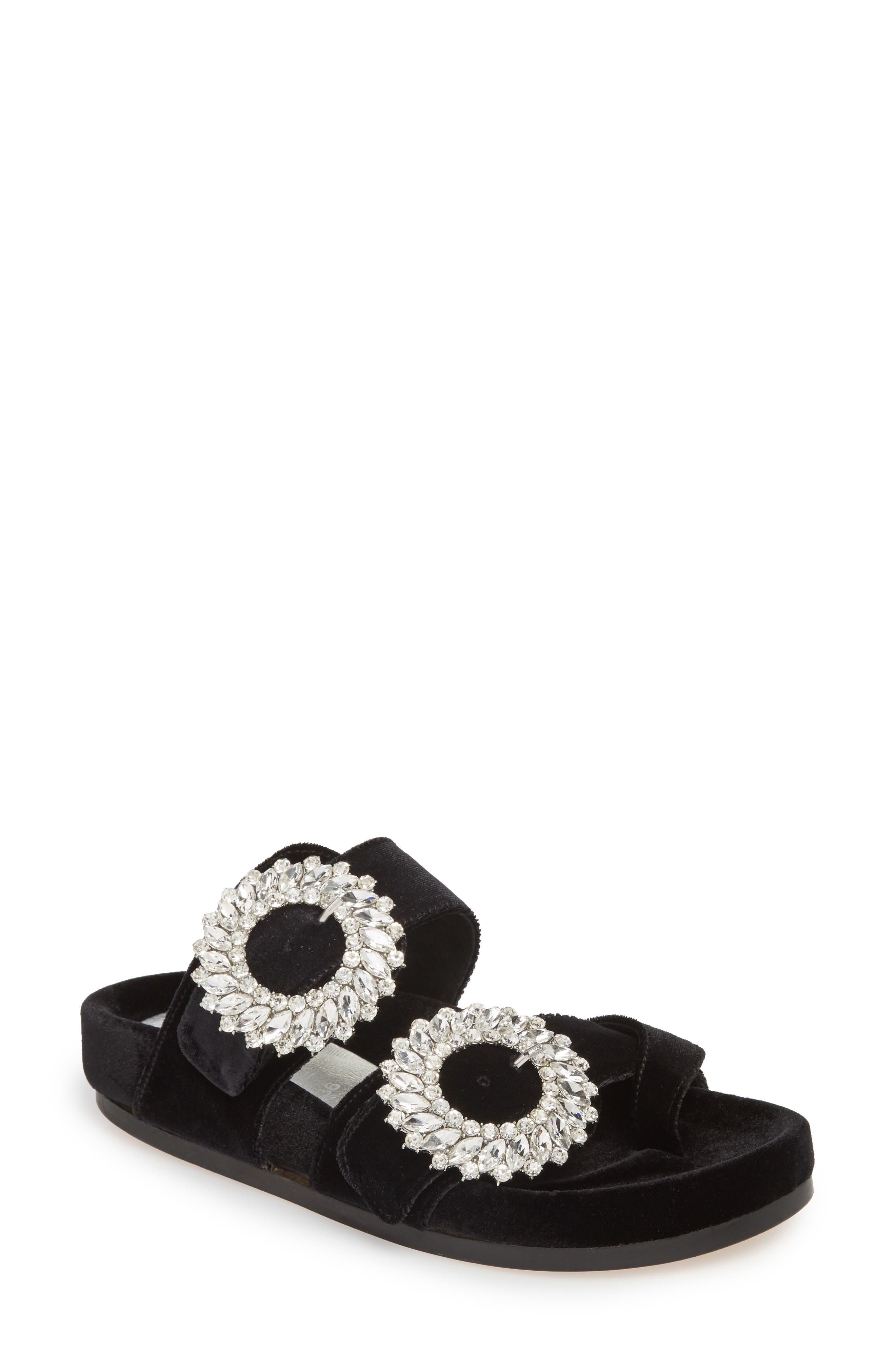 Maui2 Sandal,                         Main,                         color, Black Velvet/ White