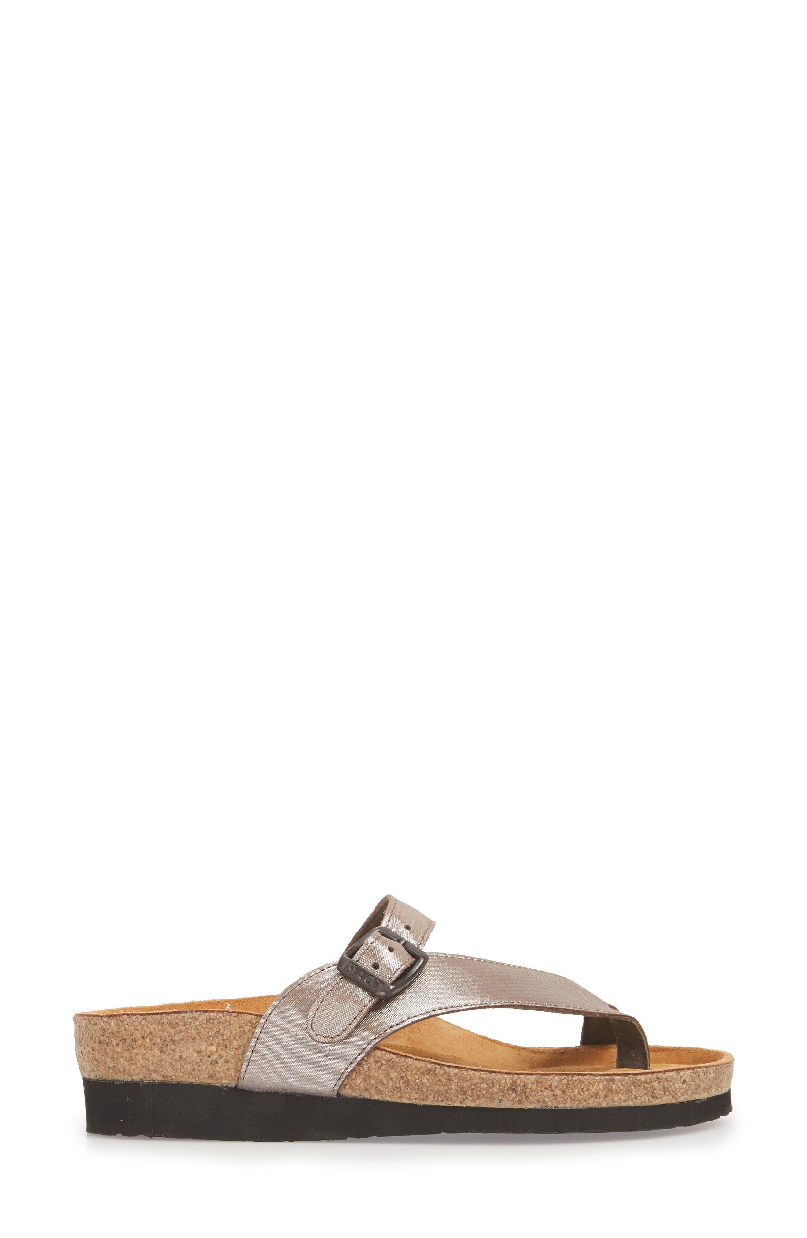'Tahoe' Sandal,                             Alternate thumbnail 3, color,                             Silver Leather