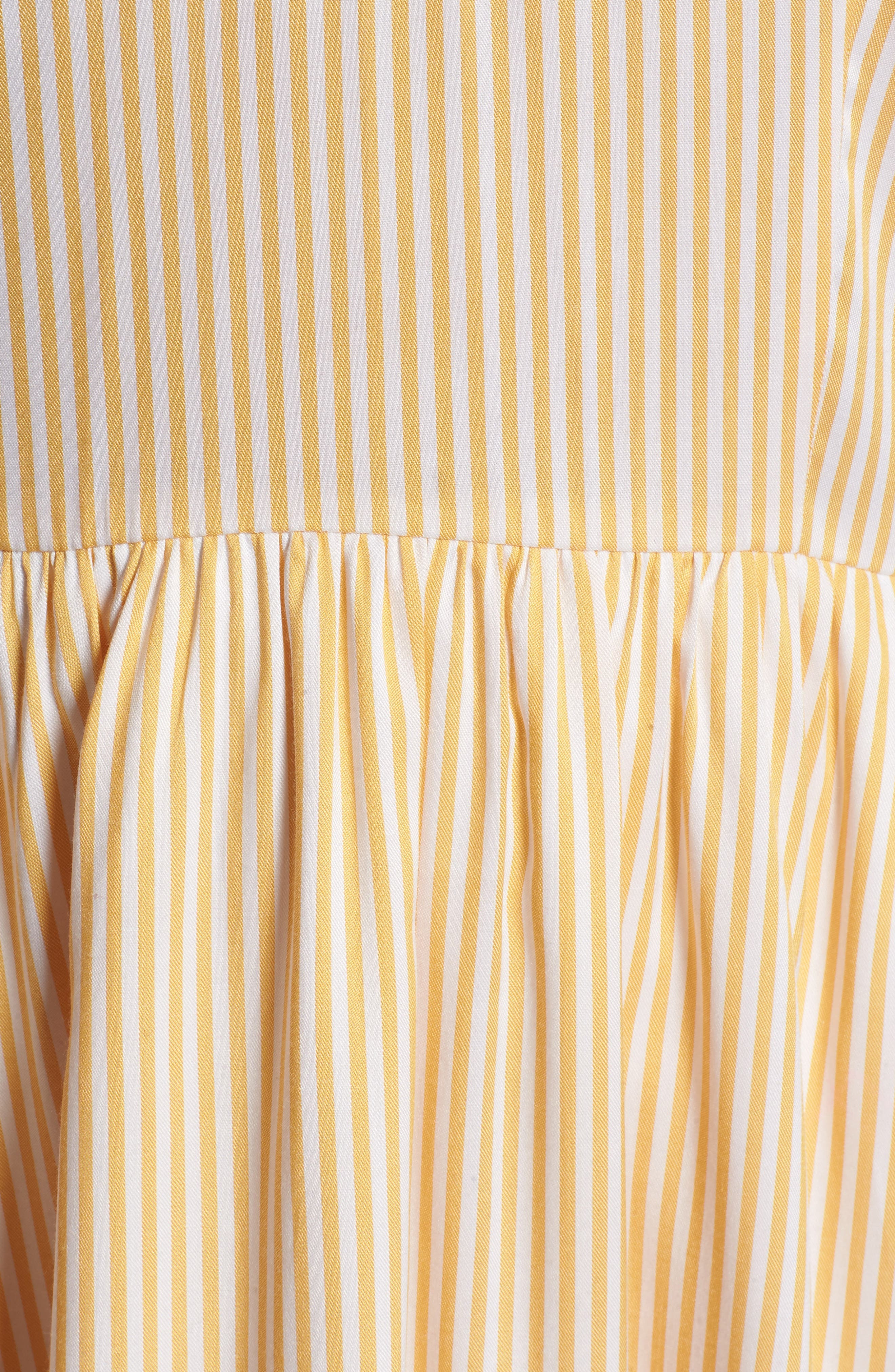 Ruffle Dress,                             Alternate thumbnail 6, color,                             Yellow Gleam Stratus Stripe