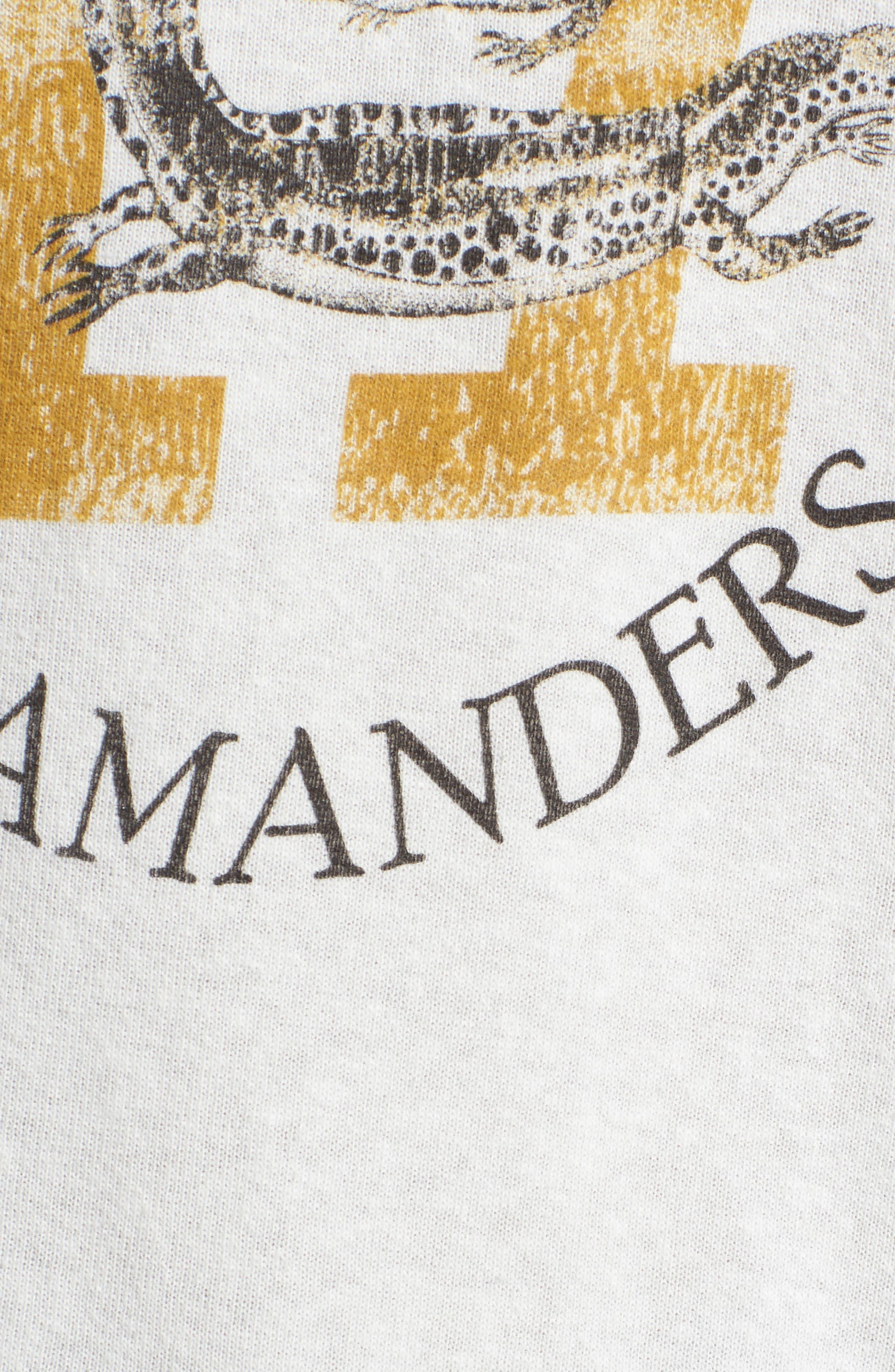 Split Neck Graphic Sweatshirt,                             Alternate thumbnail 6, color,                             White Salamanders