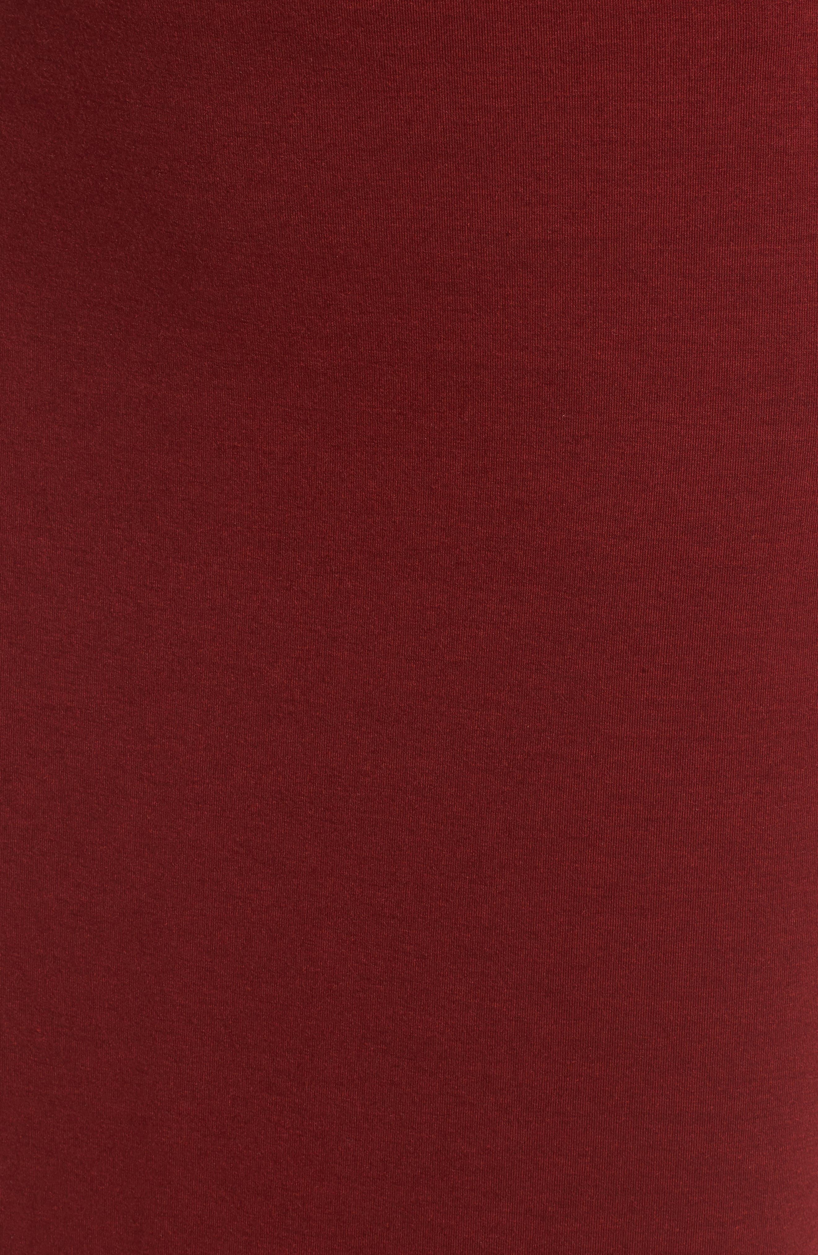 Twist Front Midi Dress,                             Alternate thumbnail 6, color,                             Red Syrah
