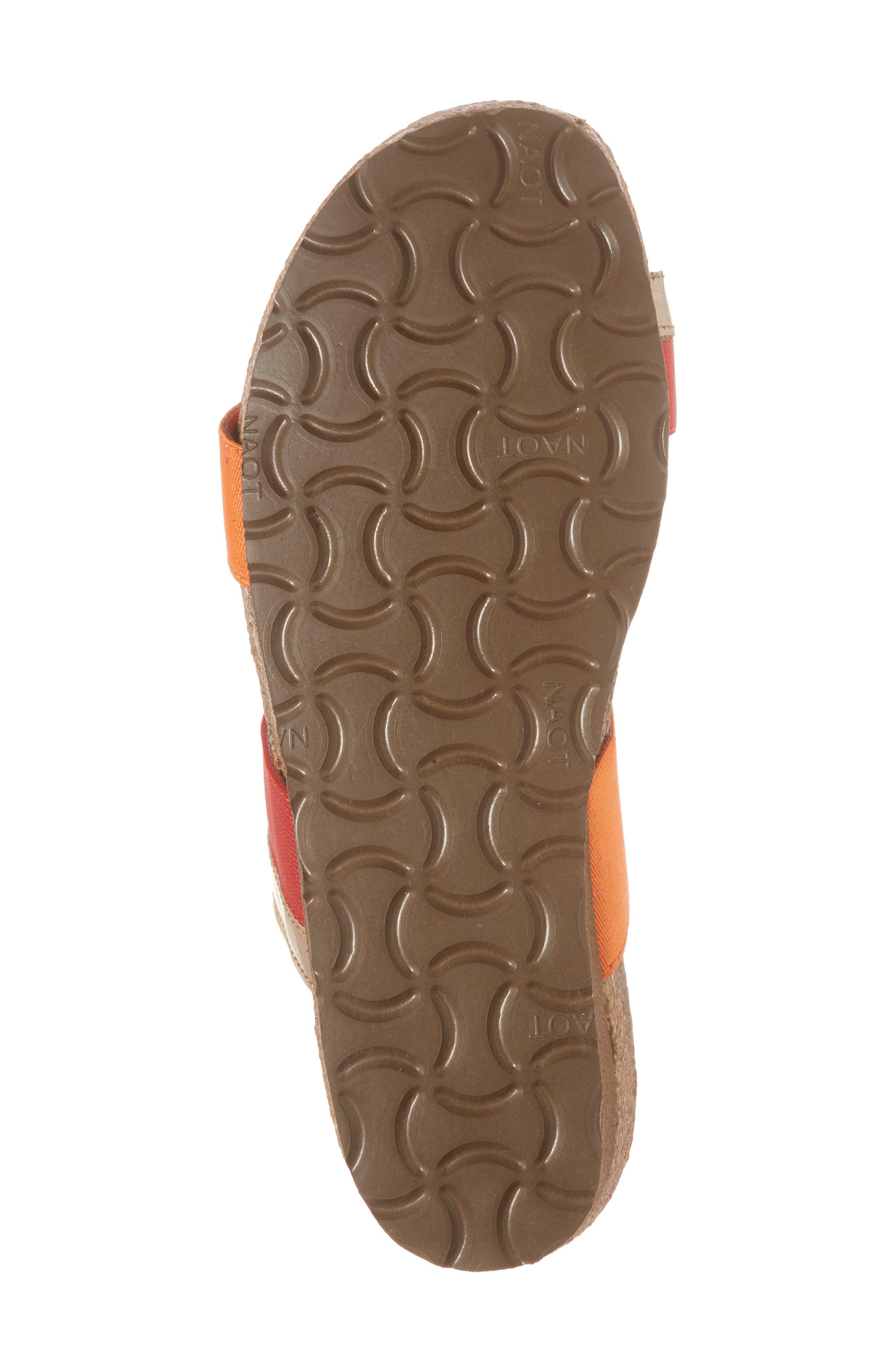 Frankie Slide Sandal,                             Alternate thumbnail 6, color,                             Red/ Orange/ Gold Leather