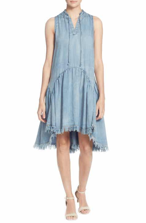 Catherine Catherine Malandrino Keala Dropwaist Chambray Dress 66df2b671fe