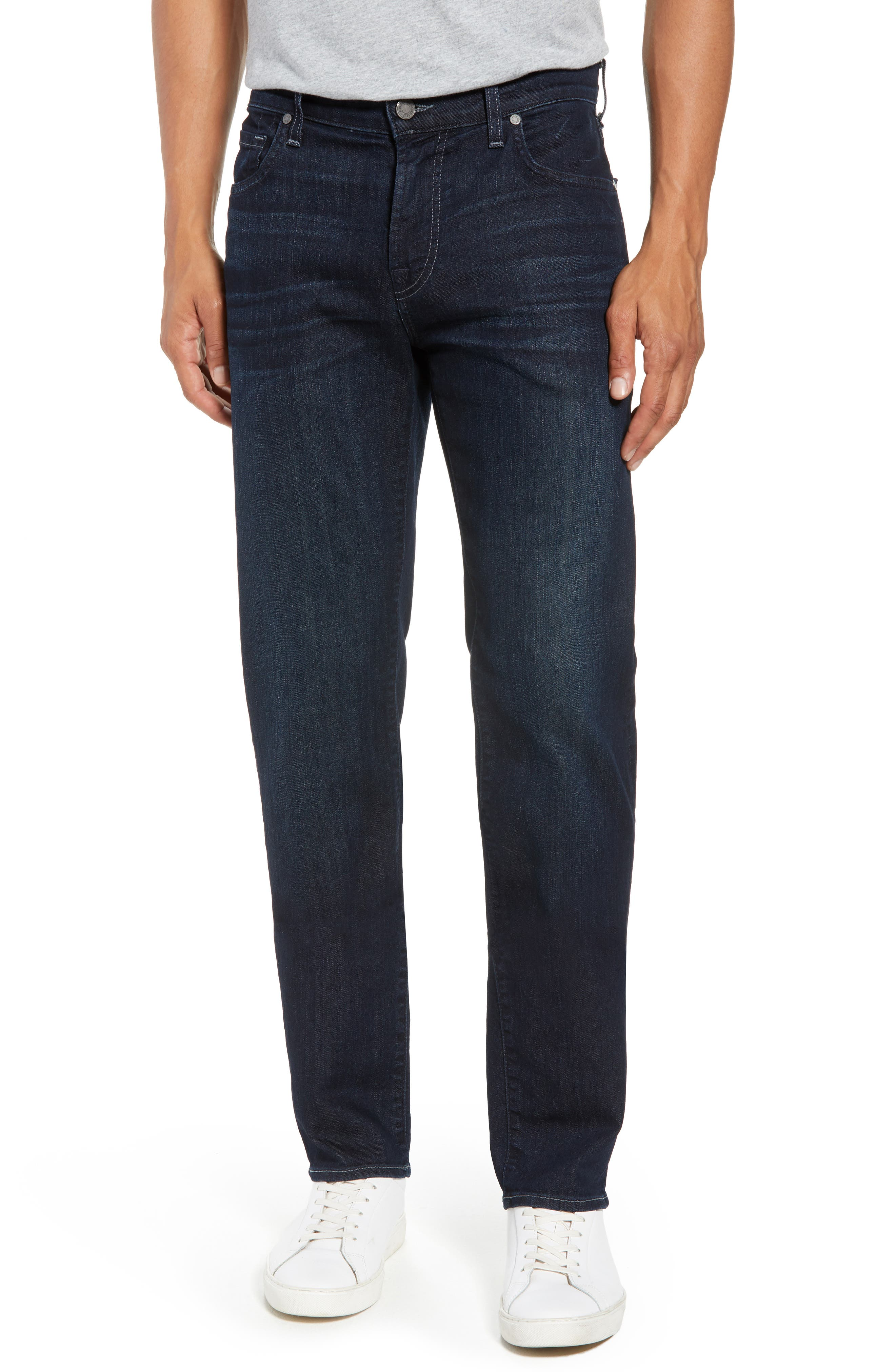 Airweft Standard Straight Leg Jeans,                             Main thumbnail 1, color,                             Perennial