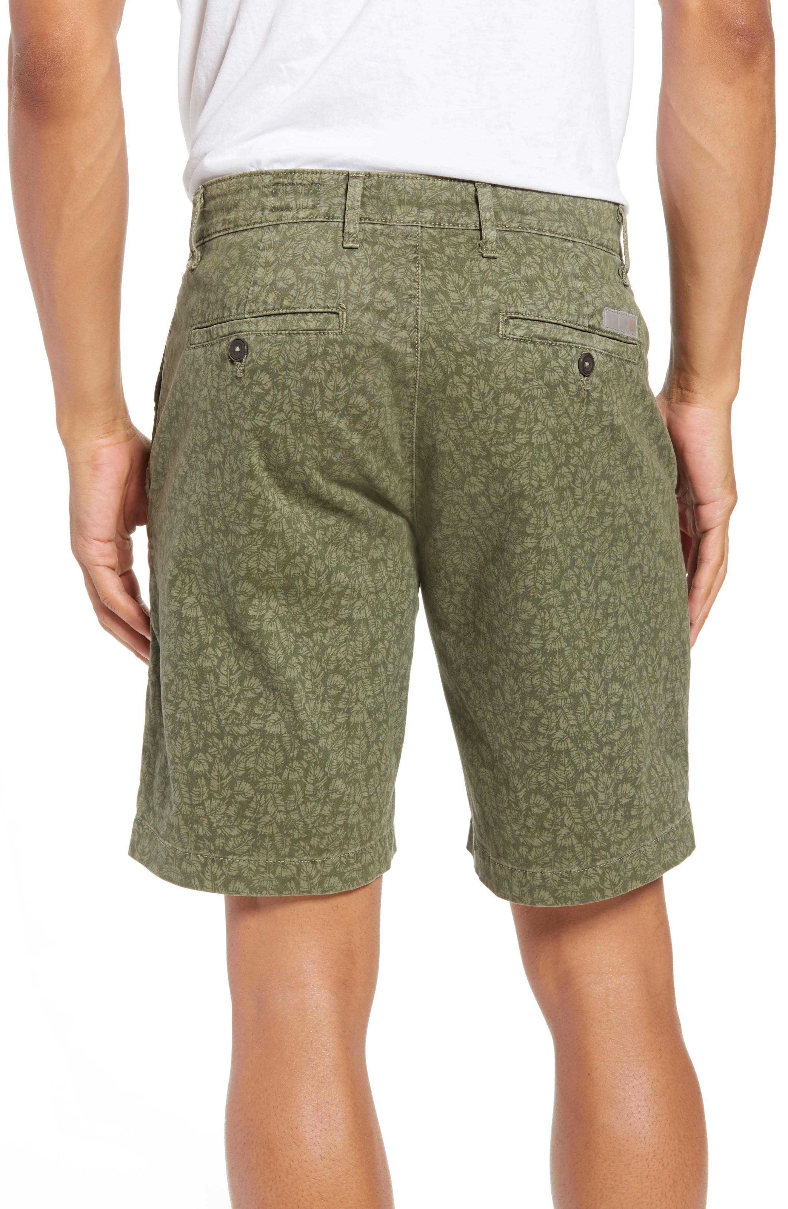 Lotas Slim Fit Stretch Cotton Shorts,                             Alternate thumbnail 2, color,                             Sulfur Dry Cypress