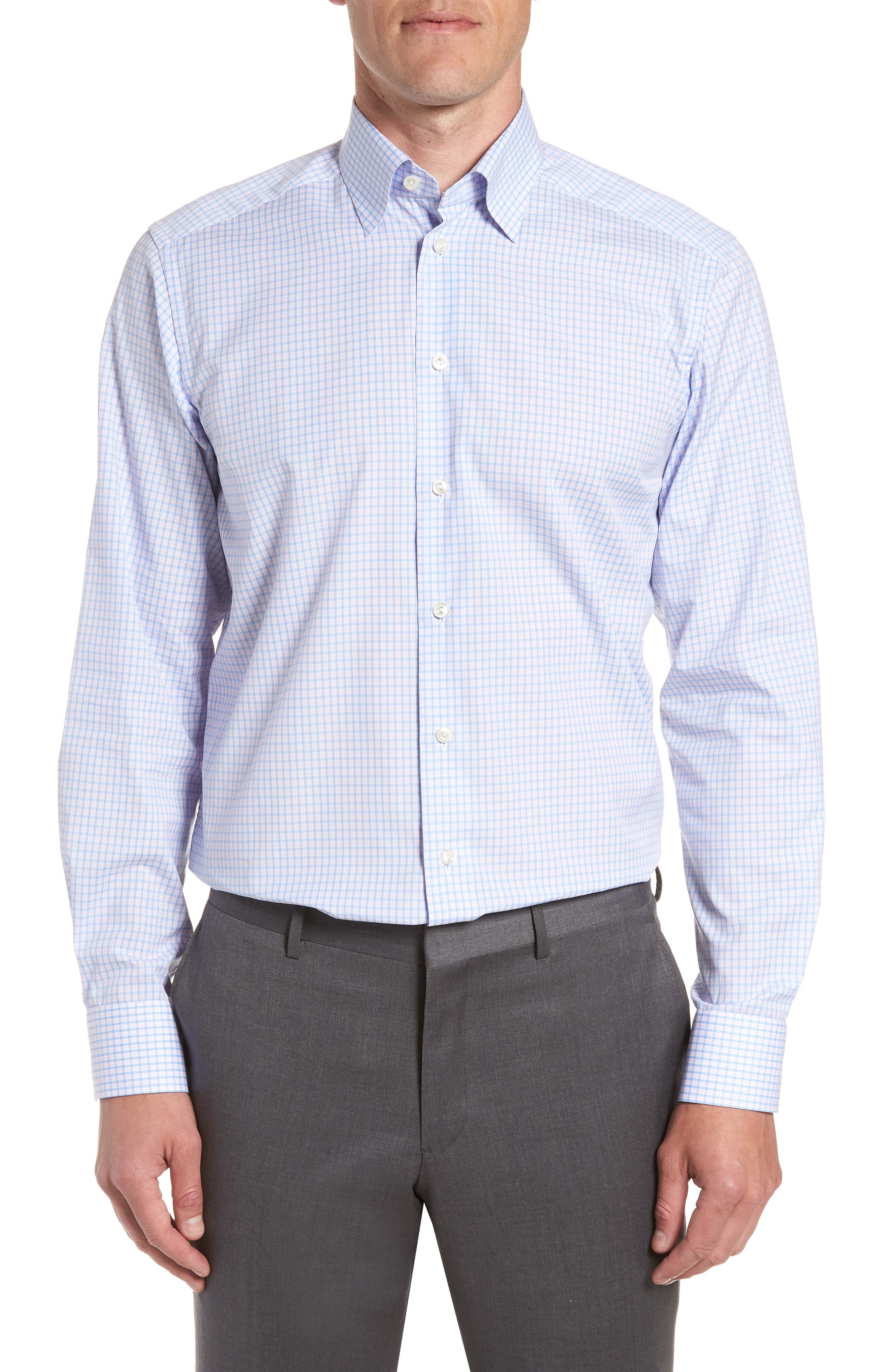 Contemporary Fit Check Dress Shirt,                         Main,                         color, Pink