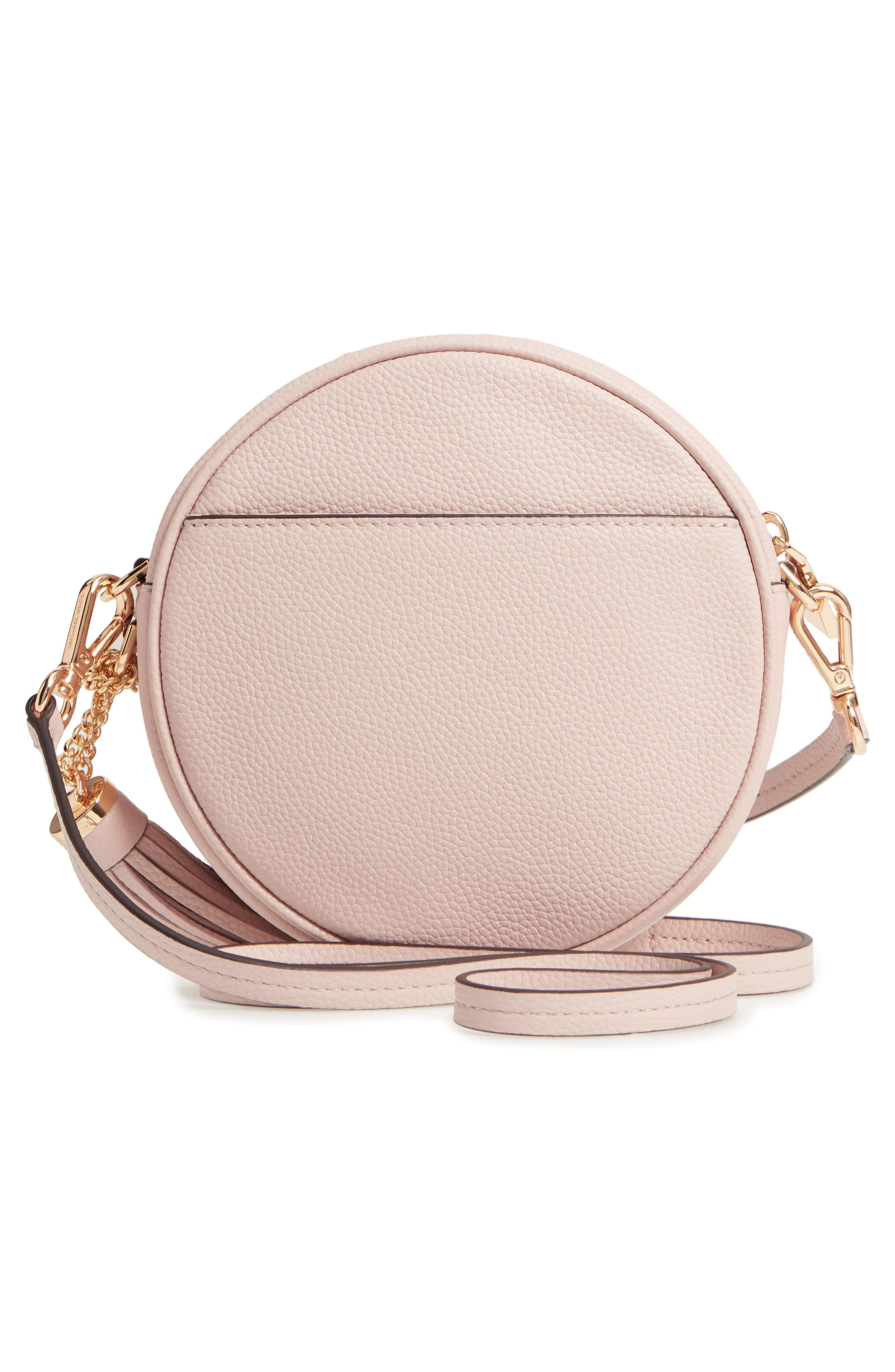 Medium Leather Canteen Bag,                             Alternate thumbnail 3, color,                             Soft Pink