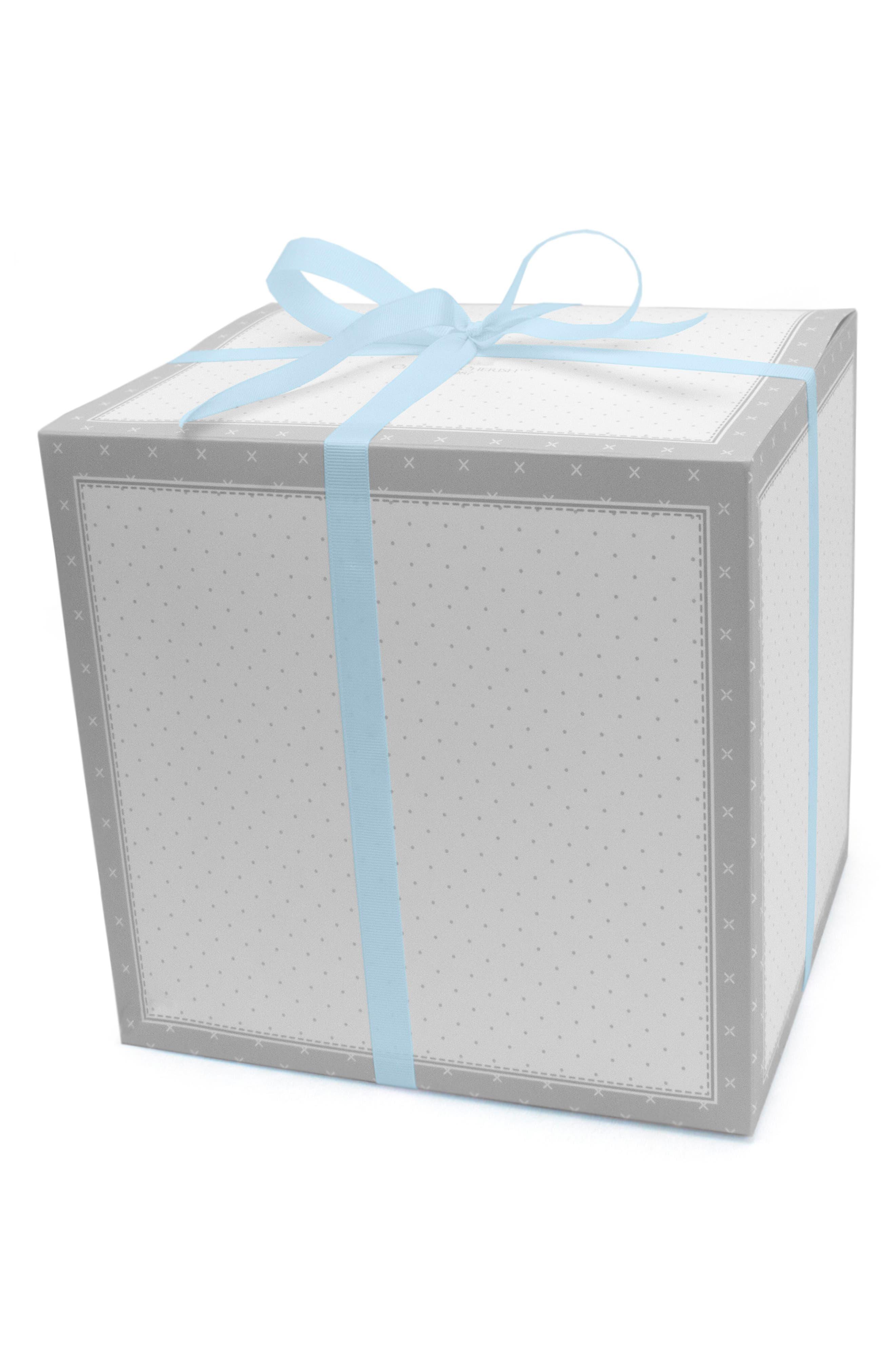 Bubbles & Whales Goldilocks Swaddle, Handprint & Photo Block Gift Set,                             Alternate thumbnail 2, color,                             Blue Whale