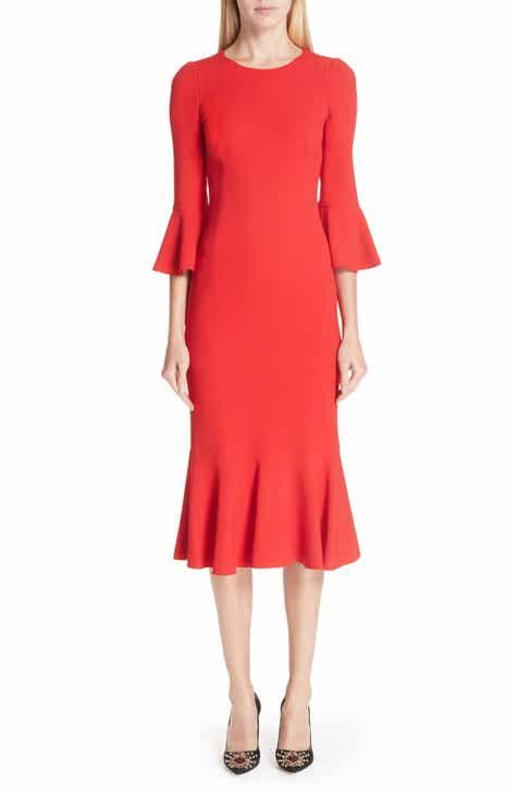 Dolce&Gabbana Ruffle Hem Dress by DOLCE AND GABBANA