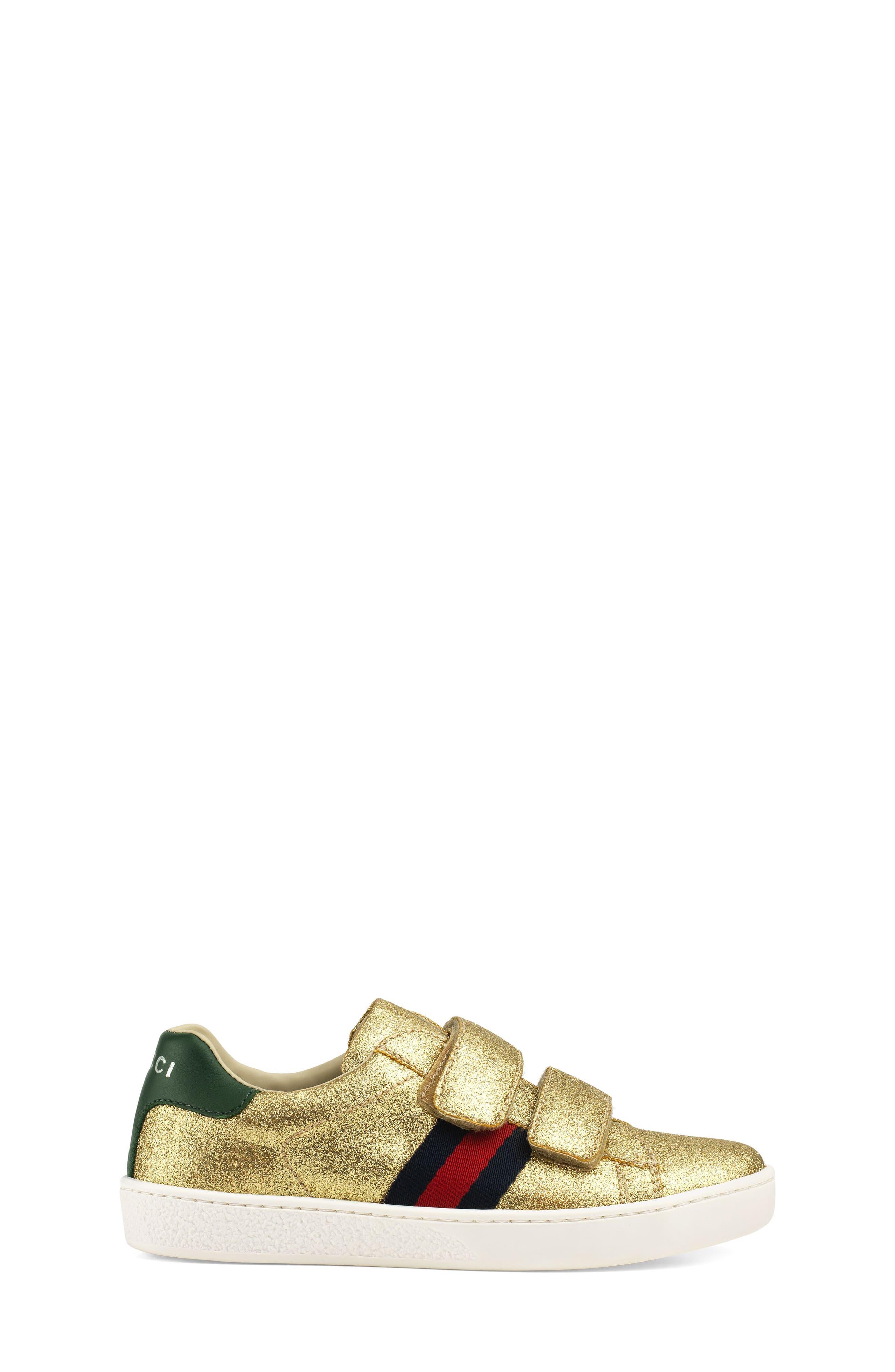New Ace Sneaker,                             Alternate thumbnail 2, color,                             Metallic Gold