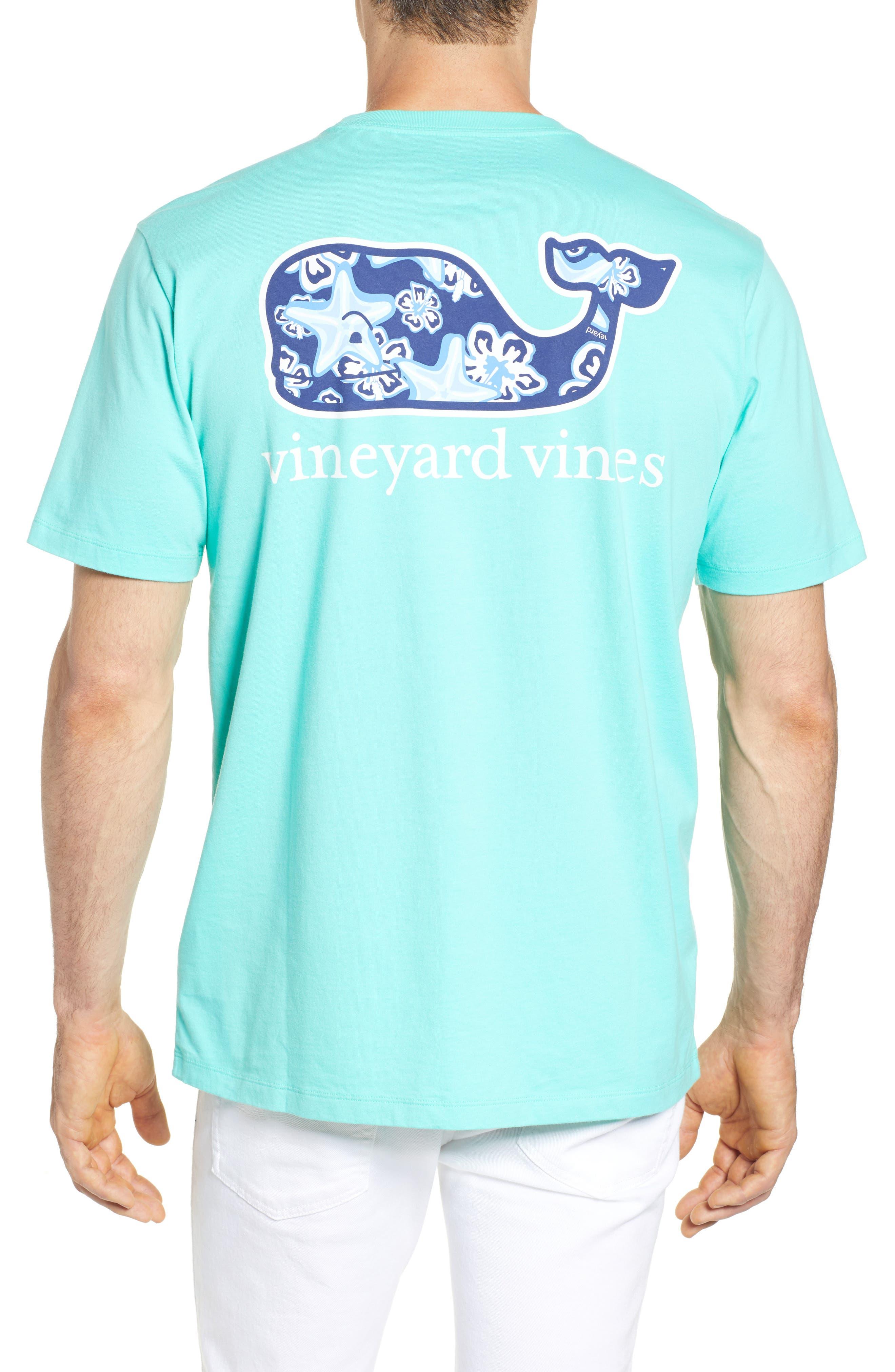 Starfish Whale Pocket T-Shirt,                             Alternate thumbnail 2, color,                             Capri Blue