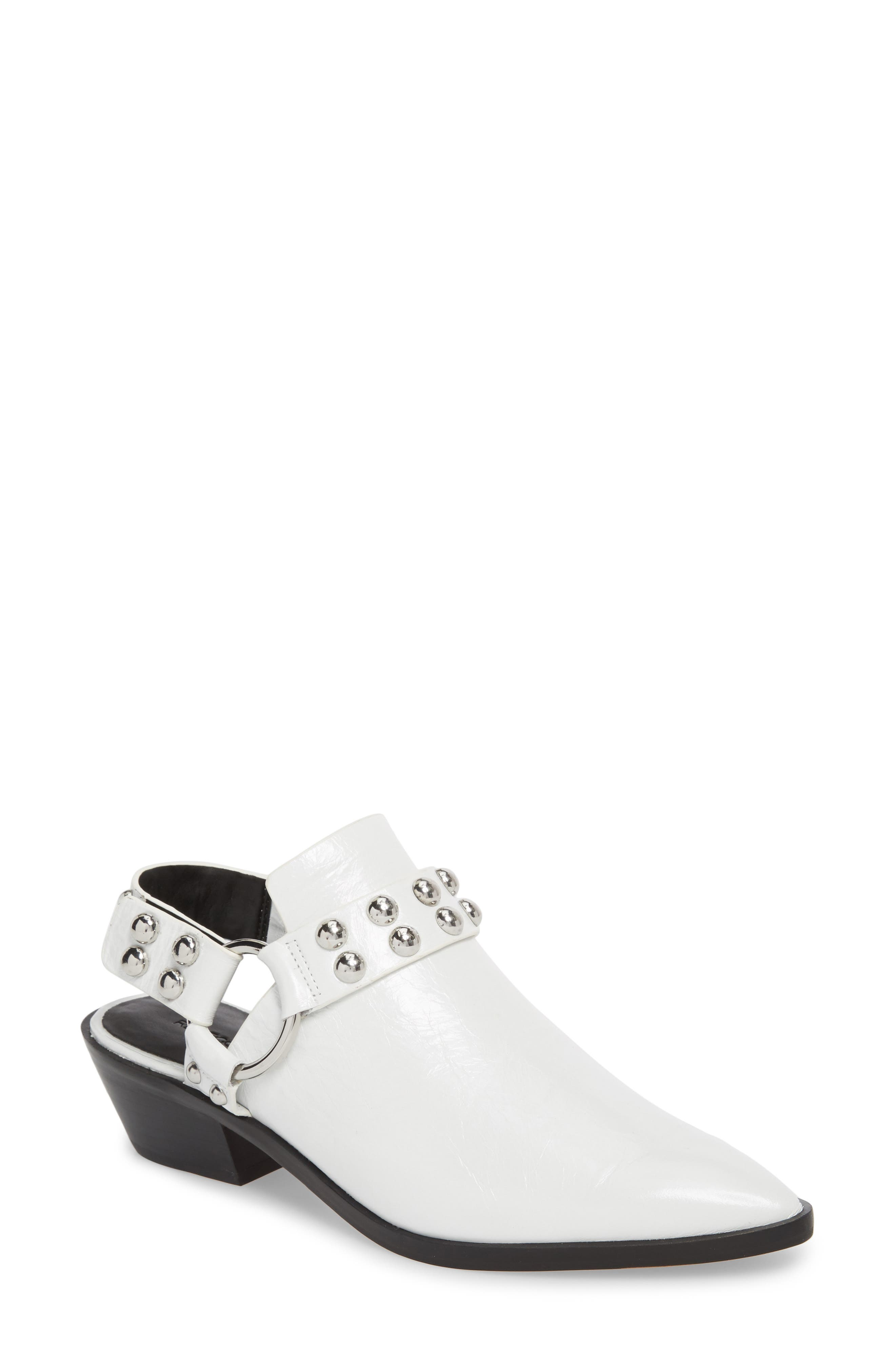 Korlyn Studded Bootie, Main, color, White Leather