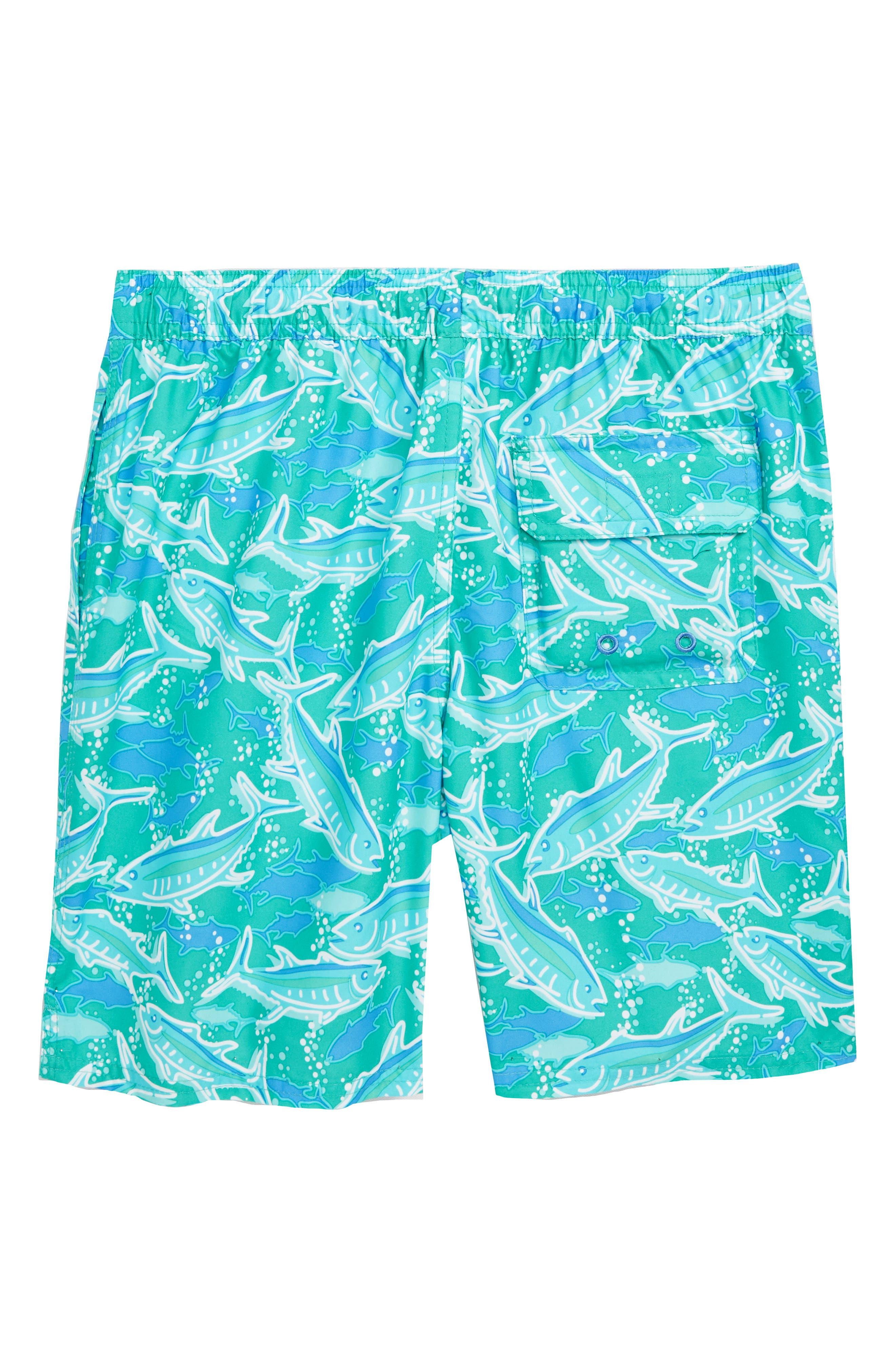 Chappy School of Tuna Swim Trunks,                             Alternate thumbnail 2, color,                             Aquinnah Aqua