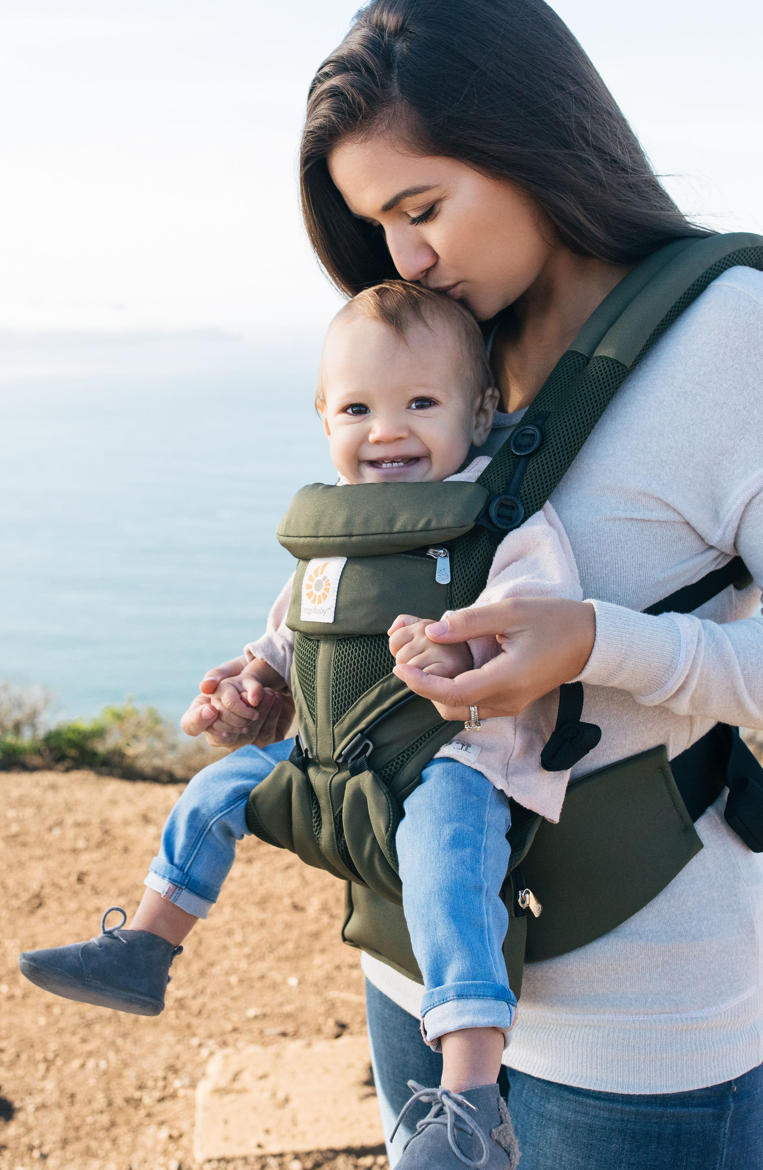 Omni 360 - Cool Air Baby Carrier,                             Alternate thumbnail 4, color,                             Khaki Green