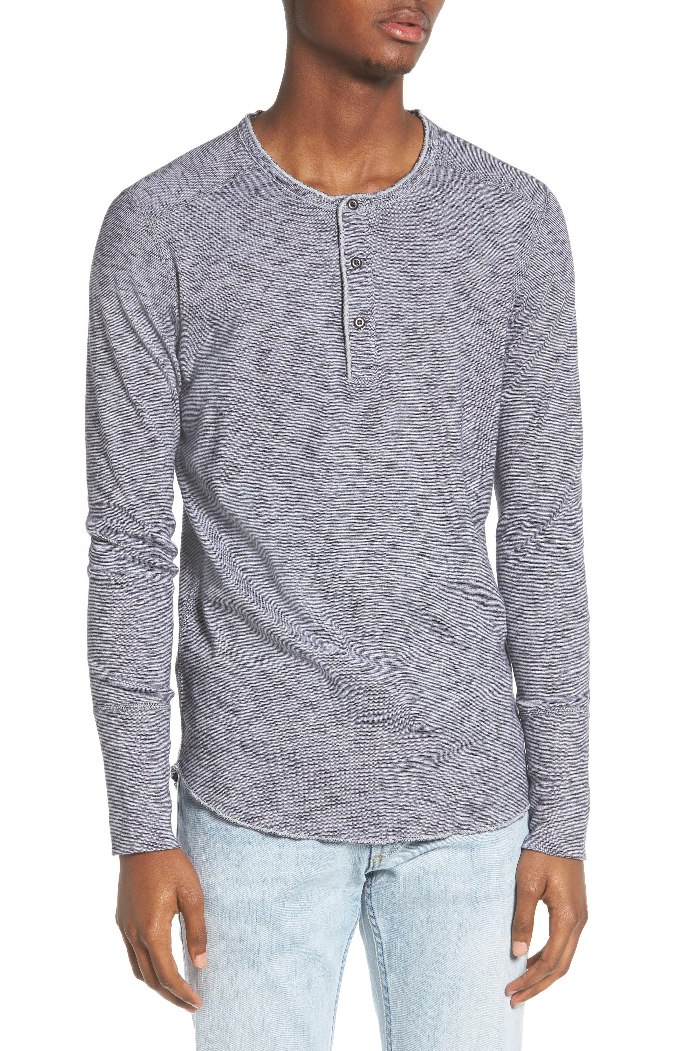 Henley,                         Main,                         color, Feeder Stripe Grey