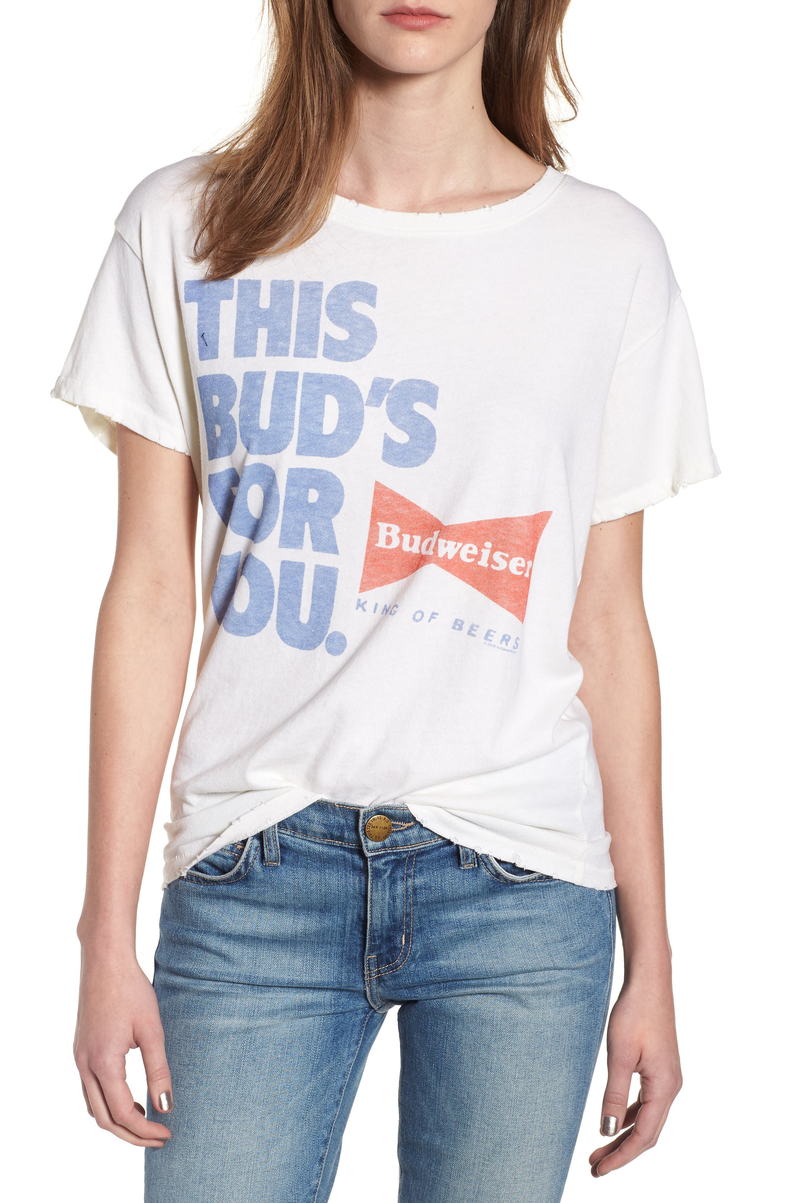 Bud for You Tee,                             Main thumbnail 1, color,                             Vintage White