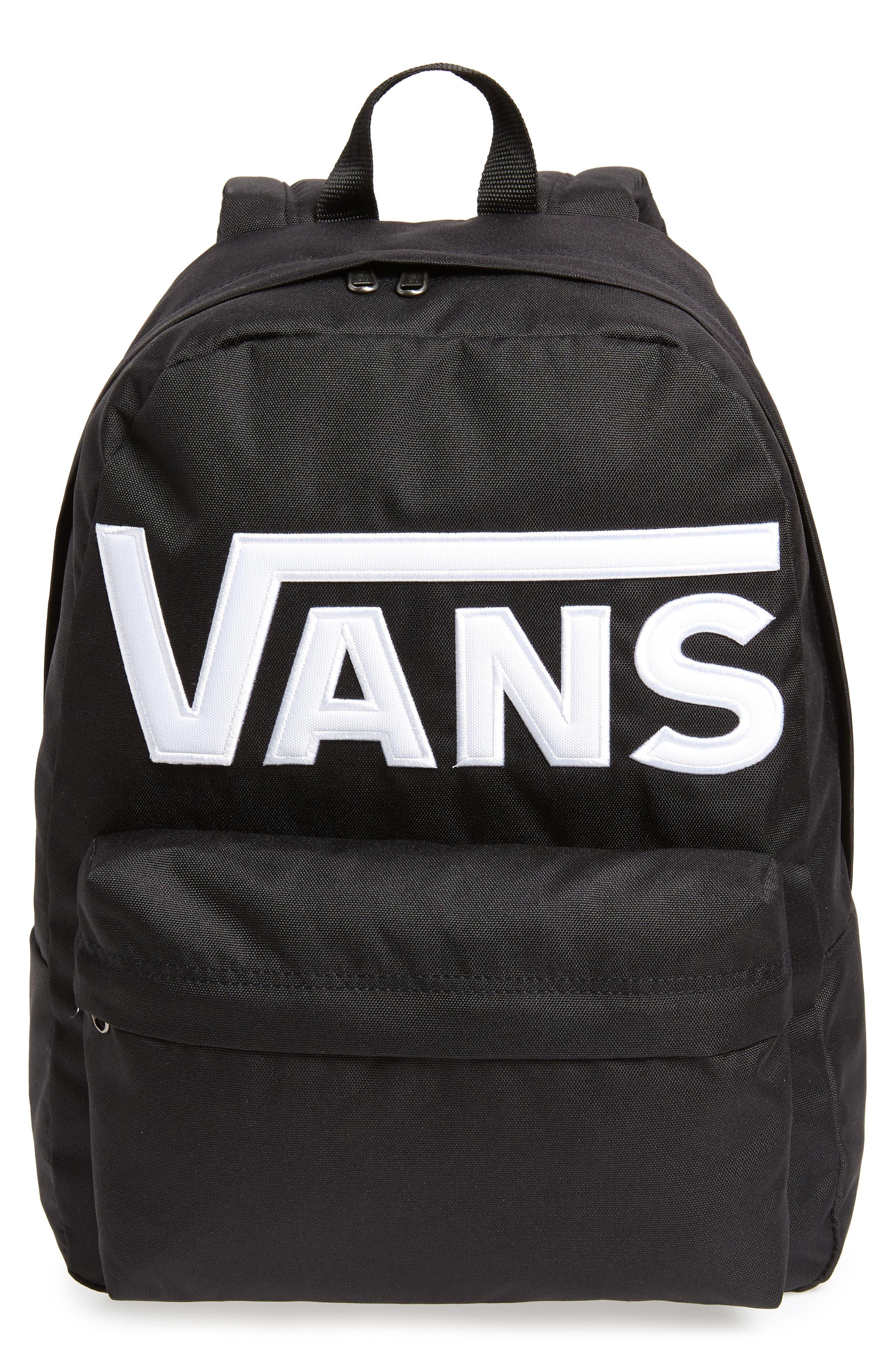 Old Skool II Backpack,                         Main,                         color, Black/ White