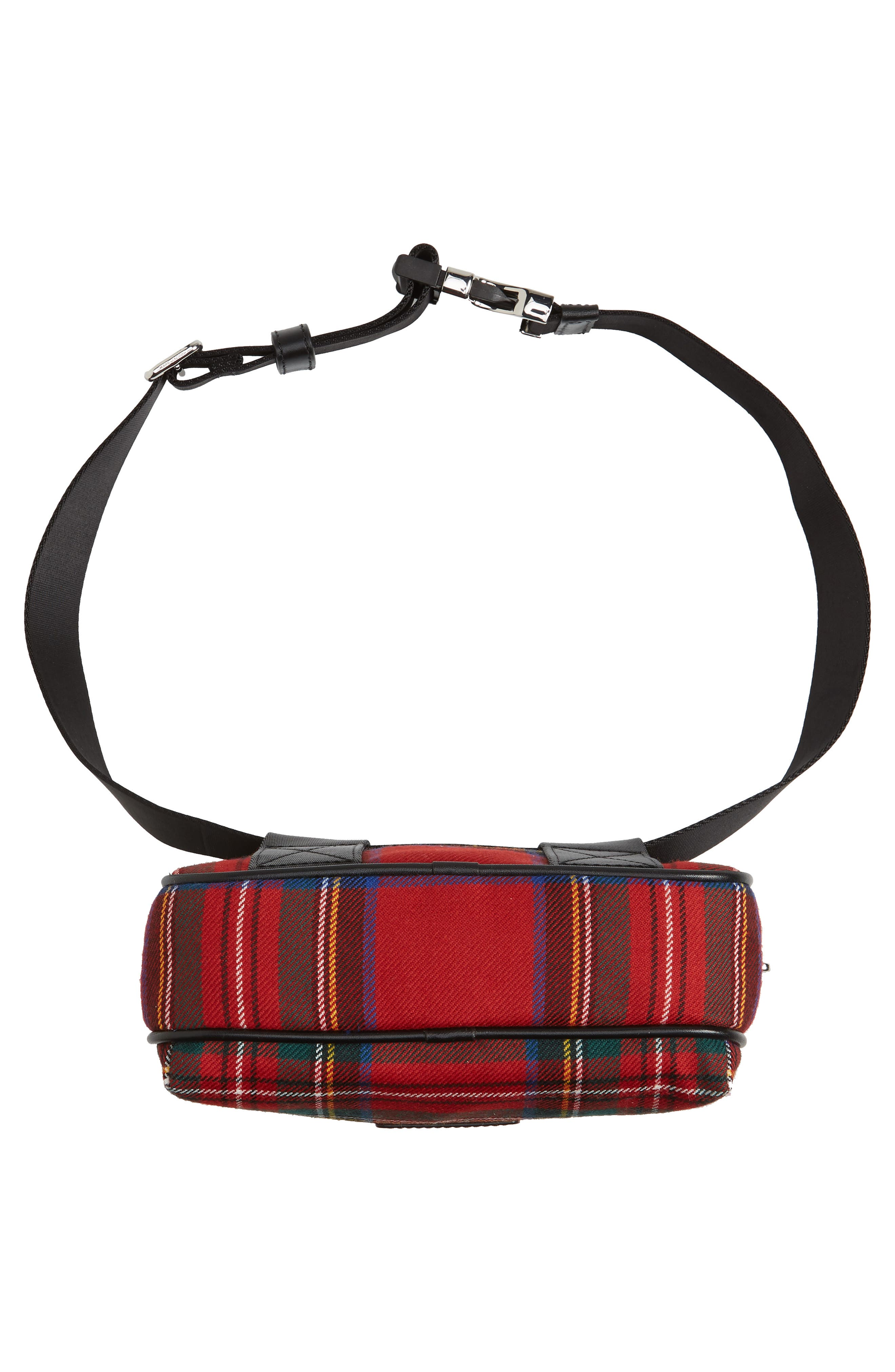 Sport Plaid Belt Bag,                             Alternate thumbnail 6, color,                             Red Multi