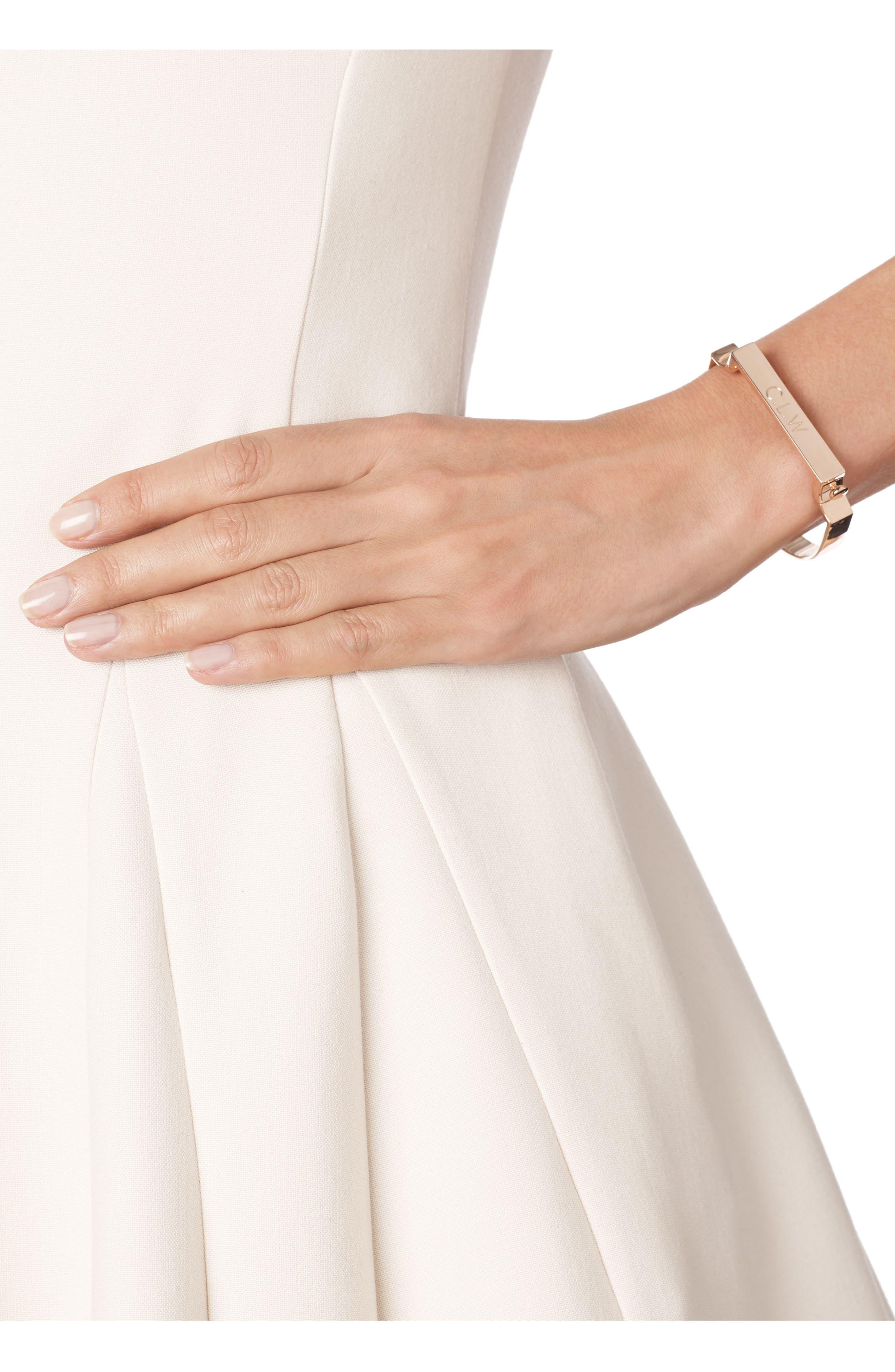 Engravable Large Signature Bracelet,                             Alternate thumbnail 2, color,                             Rose Gold