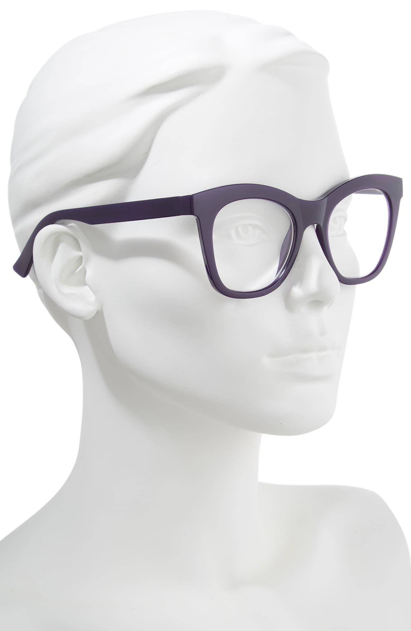 Harlot's Bed 51mm Reading Glasses,                             Alternate thumbnail 2, color,                             Deep Purple