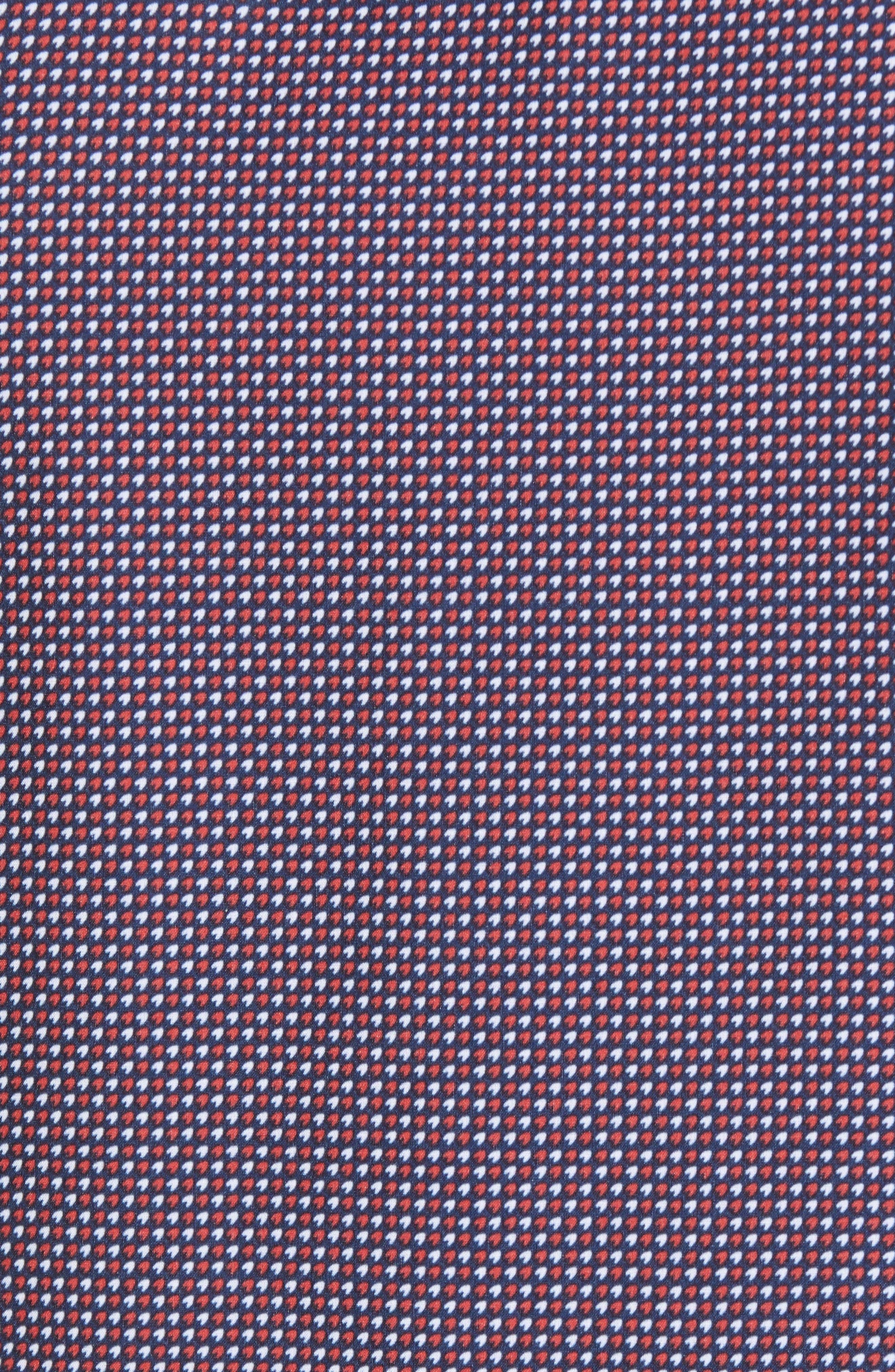 Gibson Slim Fit Dot Performance Sport Shirt,                             Alternate thumbnail 3, color,                             Red