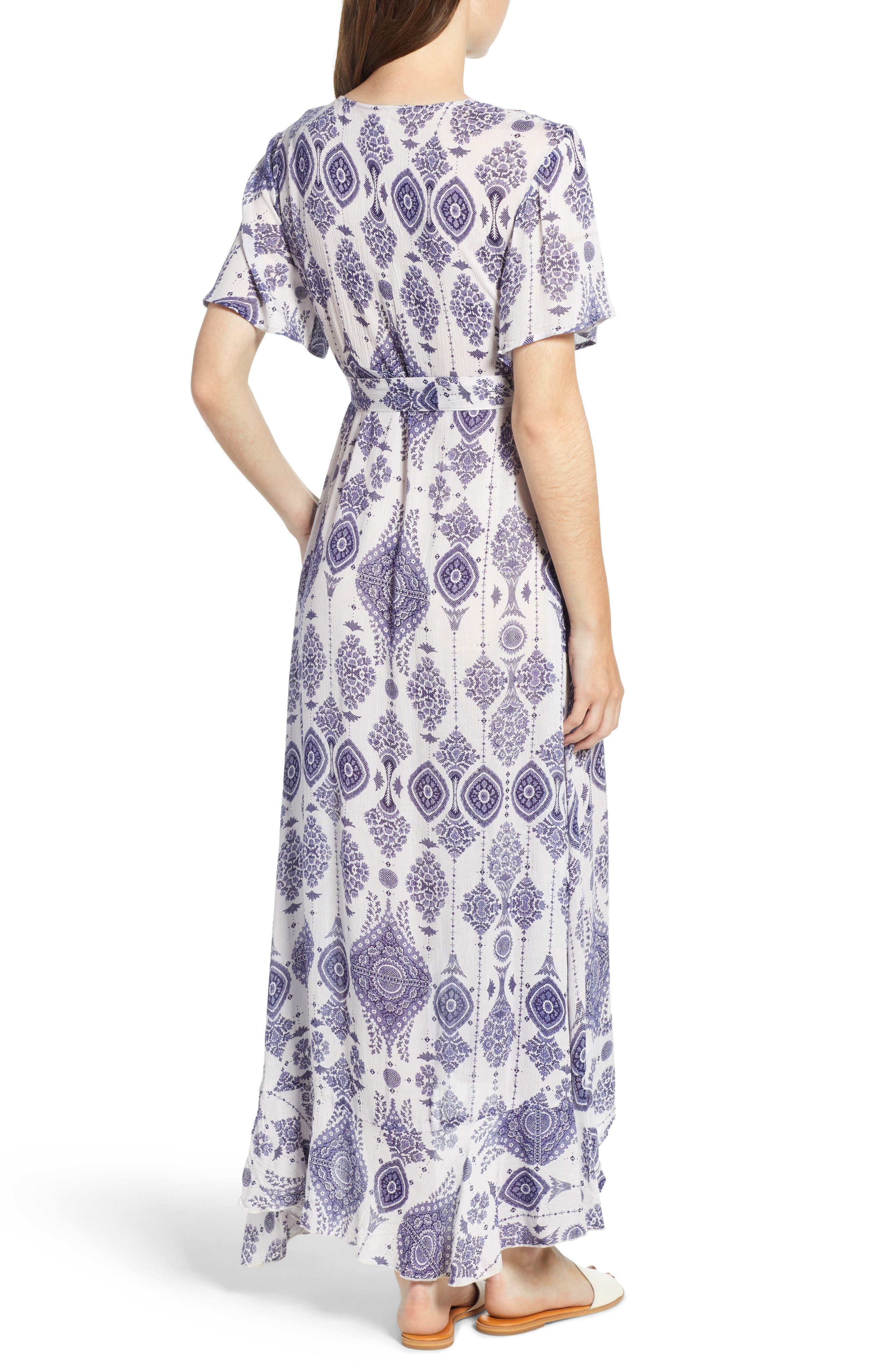 Andrea Maxi Dress,                             Alternate thumbnail 2, color,                             Blue/ White