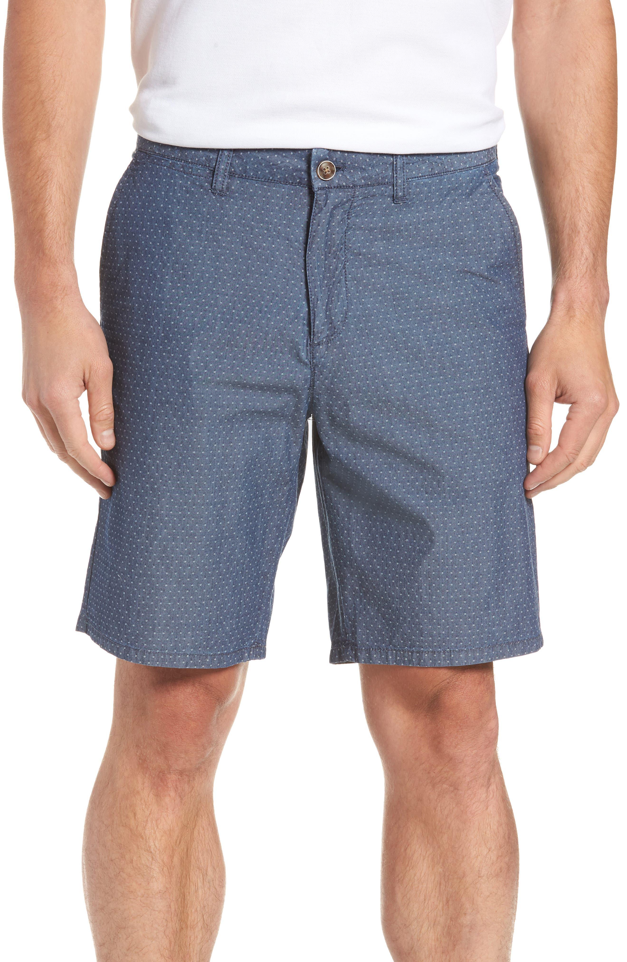 Oliver Classic Fit Chambray Jacquard Shorts,                             Main thumbnail 1, color,                             Chambray