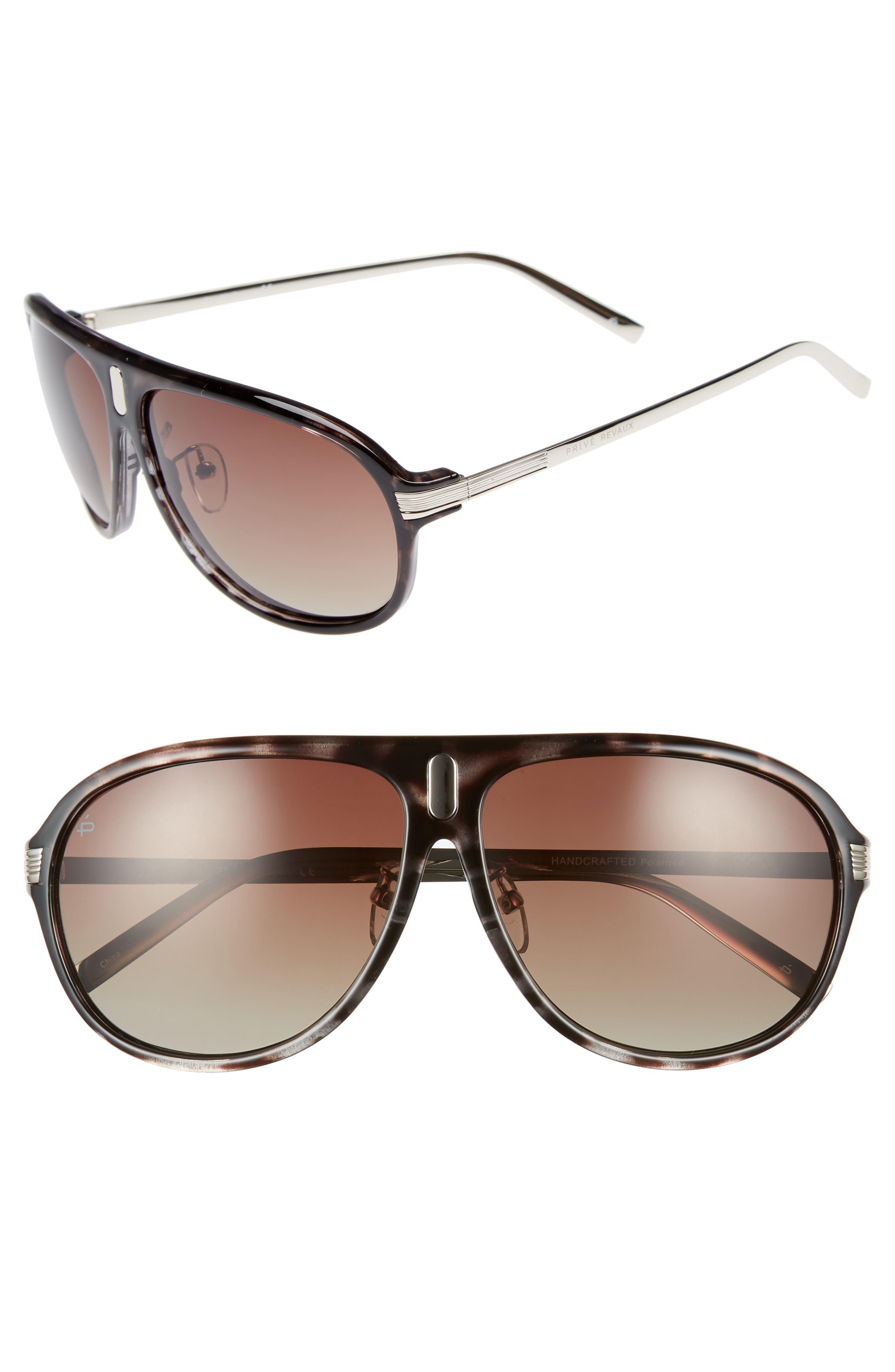 Privé Revaux The McQueen 62mm Polarized Aviator Sunglasses,                             Main thumbnail 1, color,                             Grey