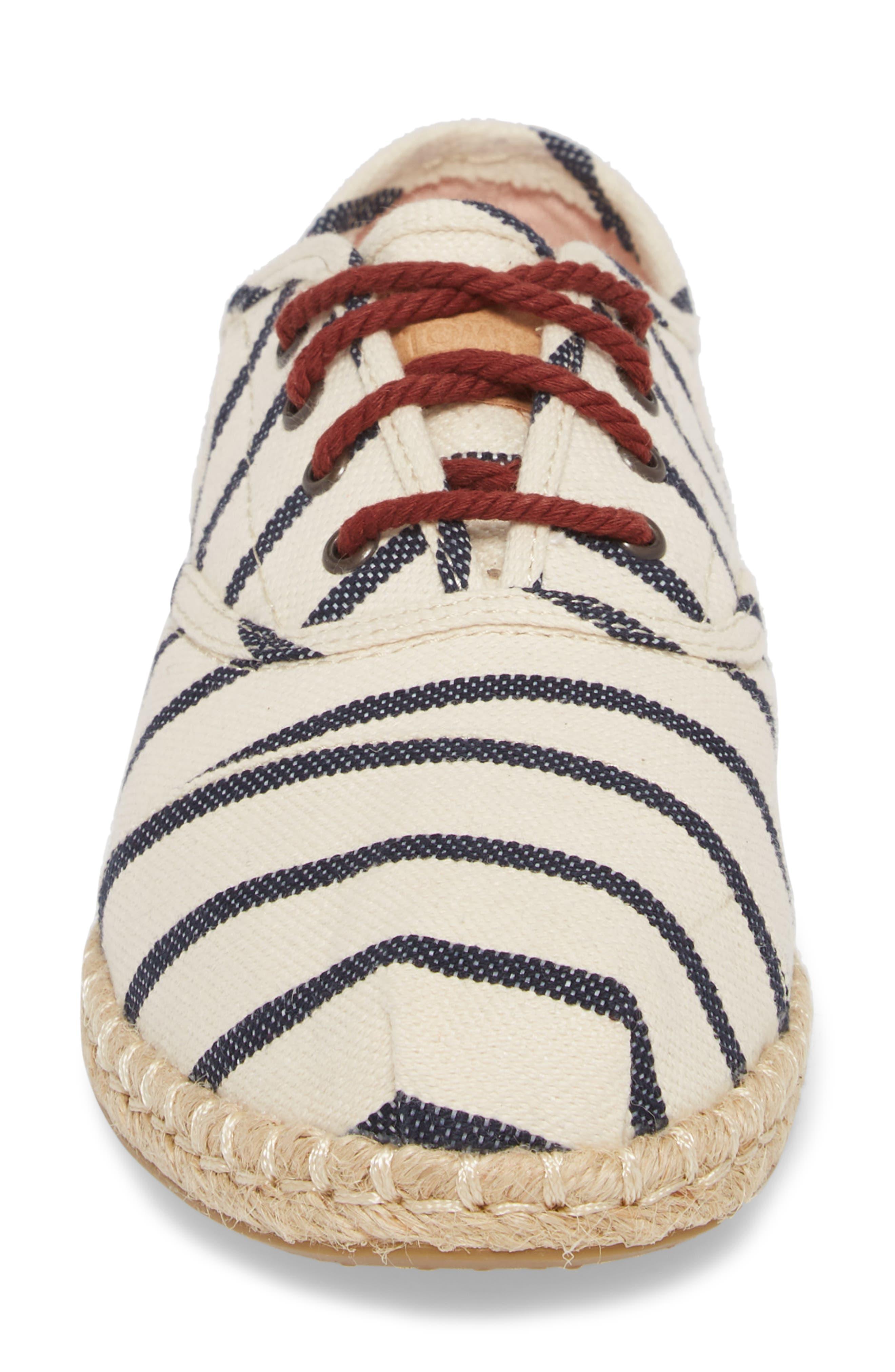 Cordones Sneaker,                             Alternate thumbnail 4, color,                             Natural Stripe Woven