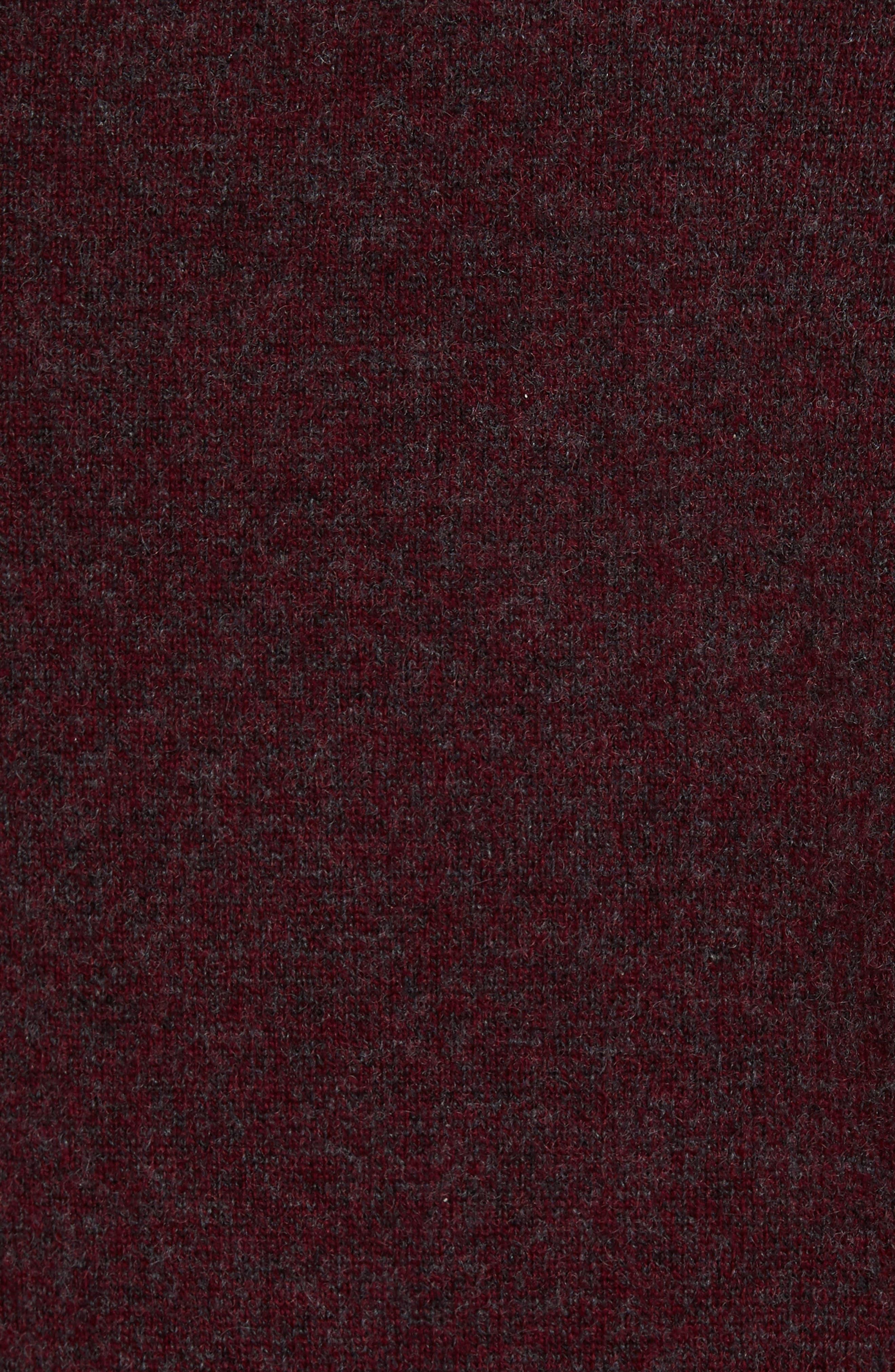 Cashmere V-Neck Sweater,                             Alternate thumbnail 5, color,                             Burgundy Fudge