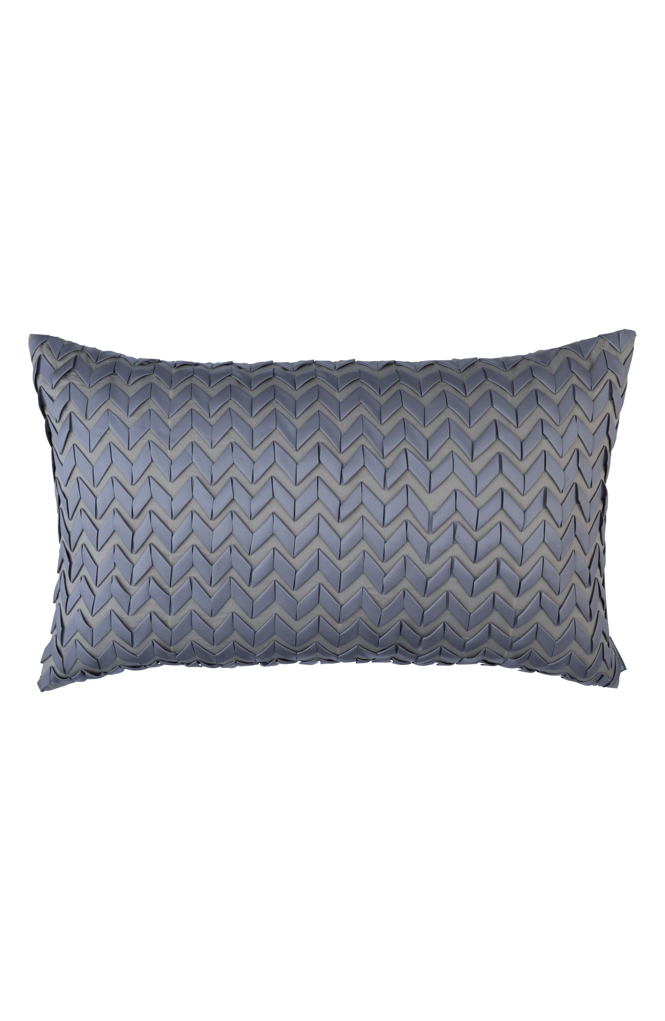 Ultra Ribbon Large Accent Pillow,                         Main,                         color, Gray