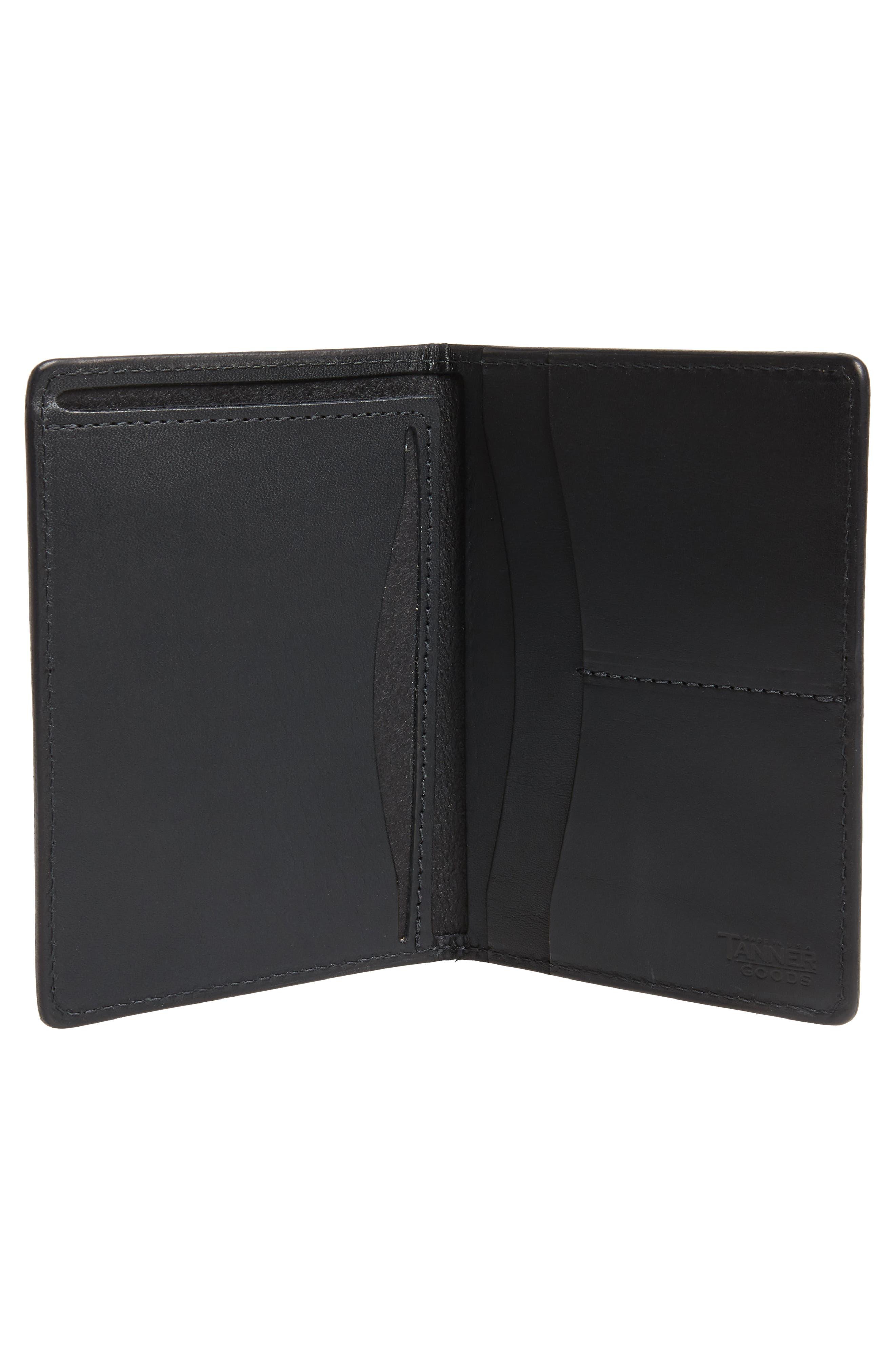 Leather Travel Wallet,                             Alternate thumbnail 3, color,                             Black
