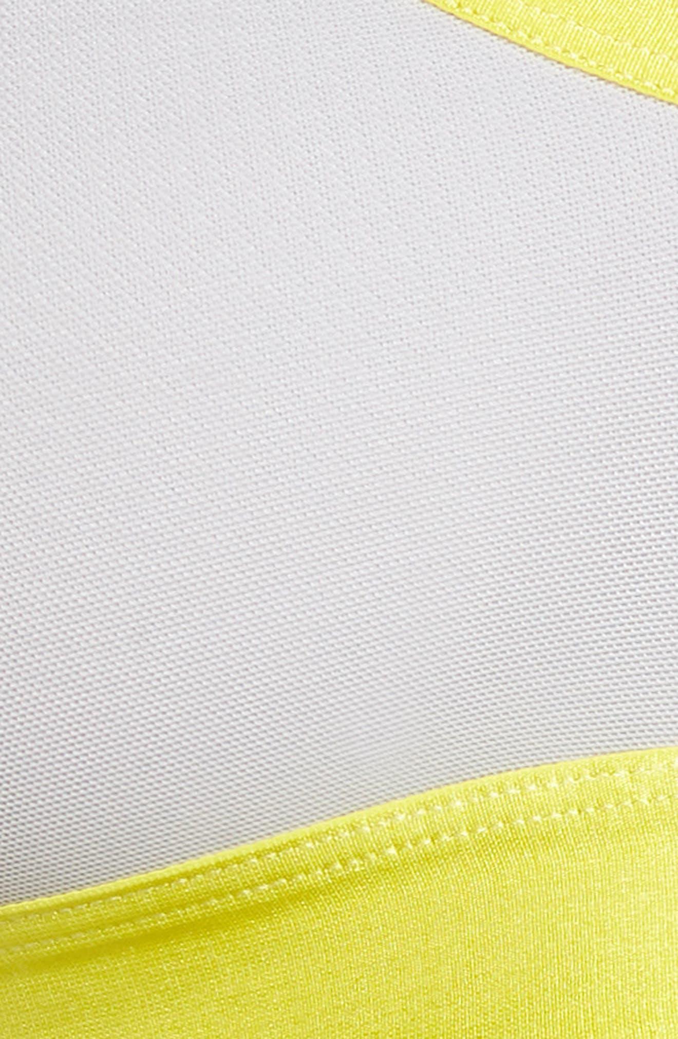 Energy Sport Bralette,                             Alternate thumbnail 5, color,                             Silver/ Citron