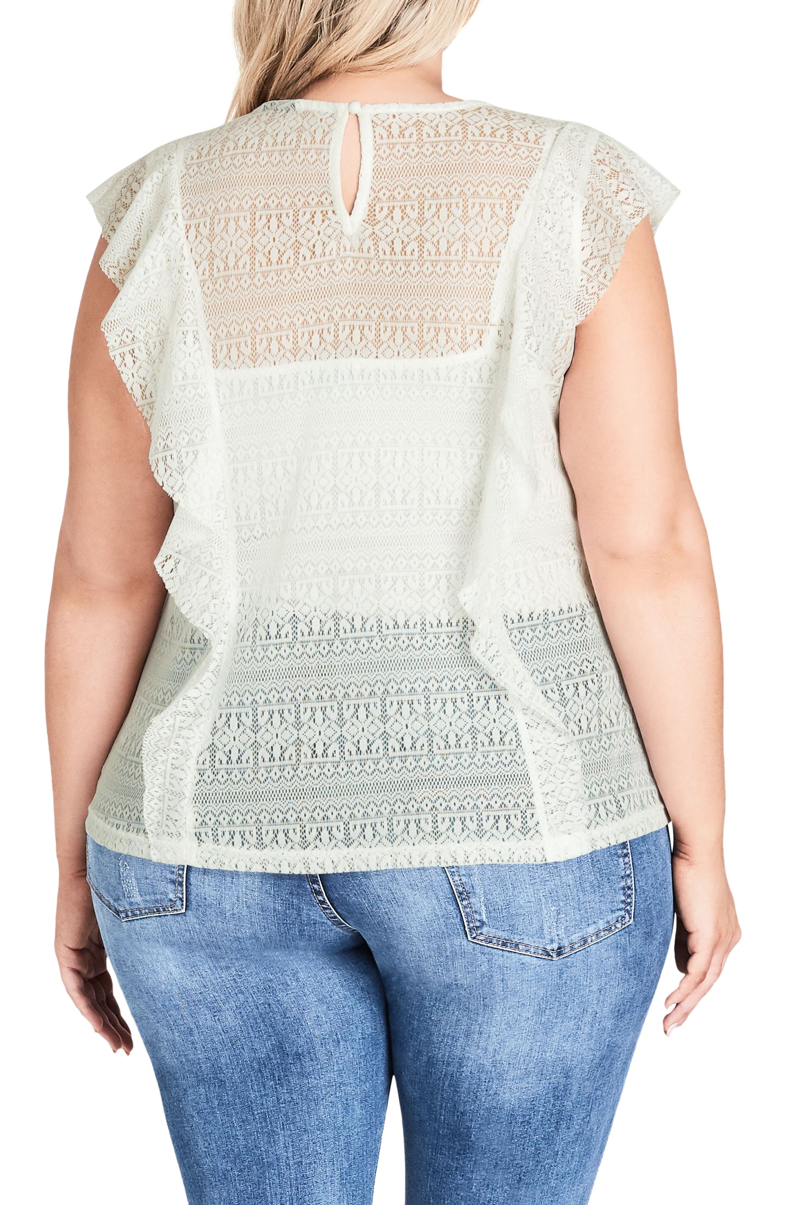 Dreamy Lace Top,                             Alternate thumbnail 2, color,                             Ivory