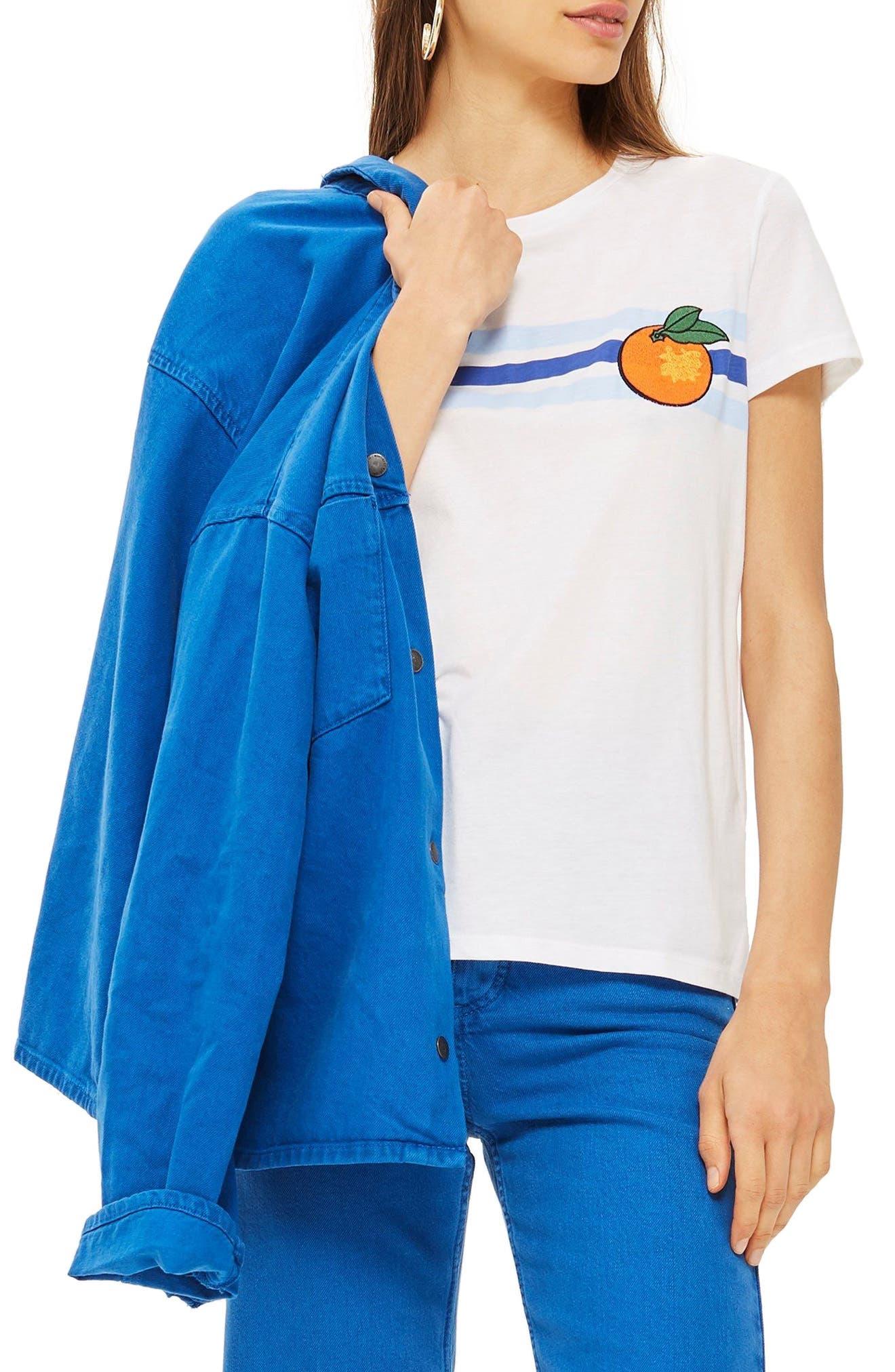 Satsuma Retro T-Shirt,                             Main thumbnail 1, color,                             White Multi