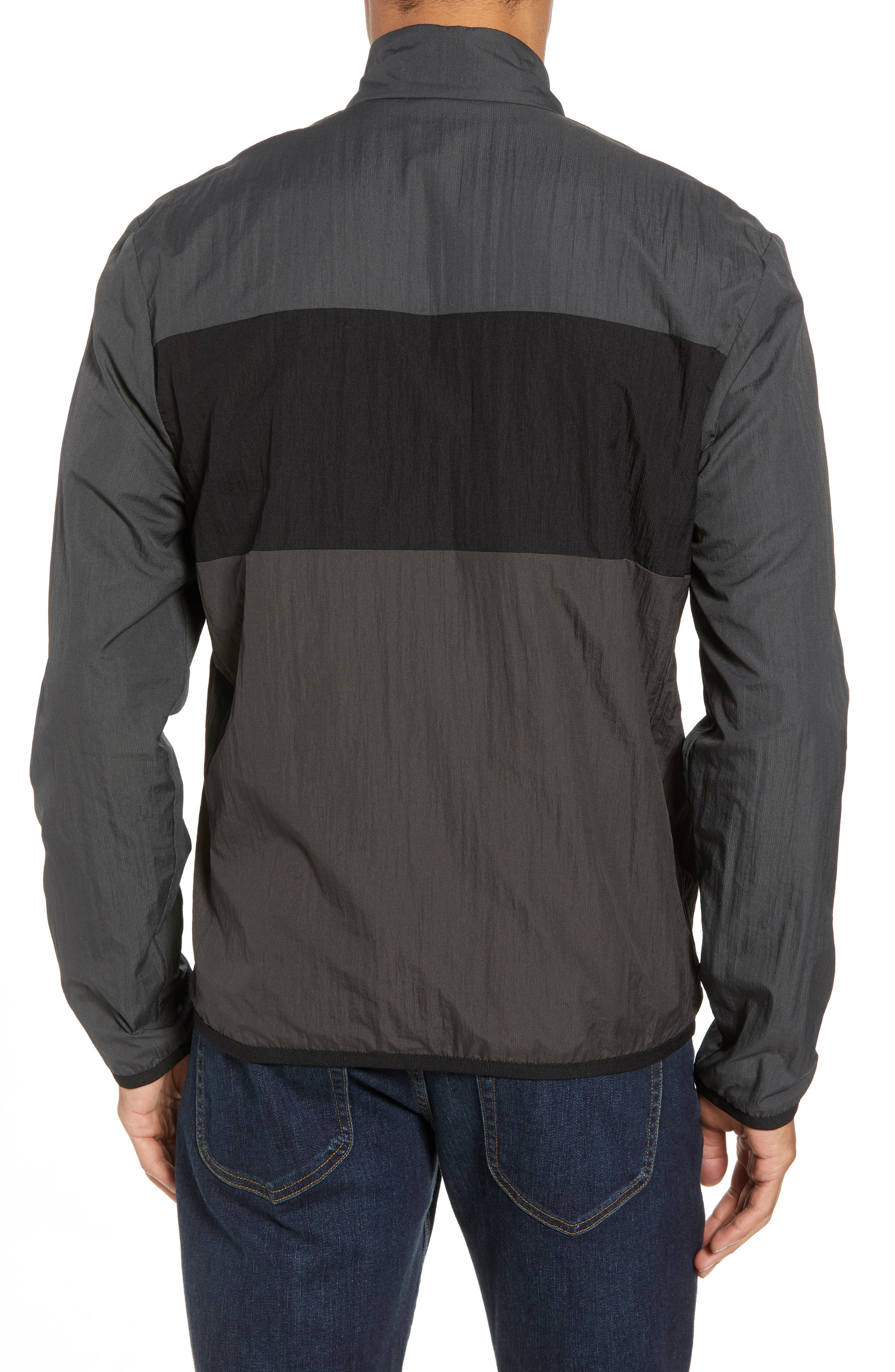 Stripe Ripstop Jacket,                             Alternate thumbnail 2, color,                             Pipe/ Black/ Abyss