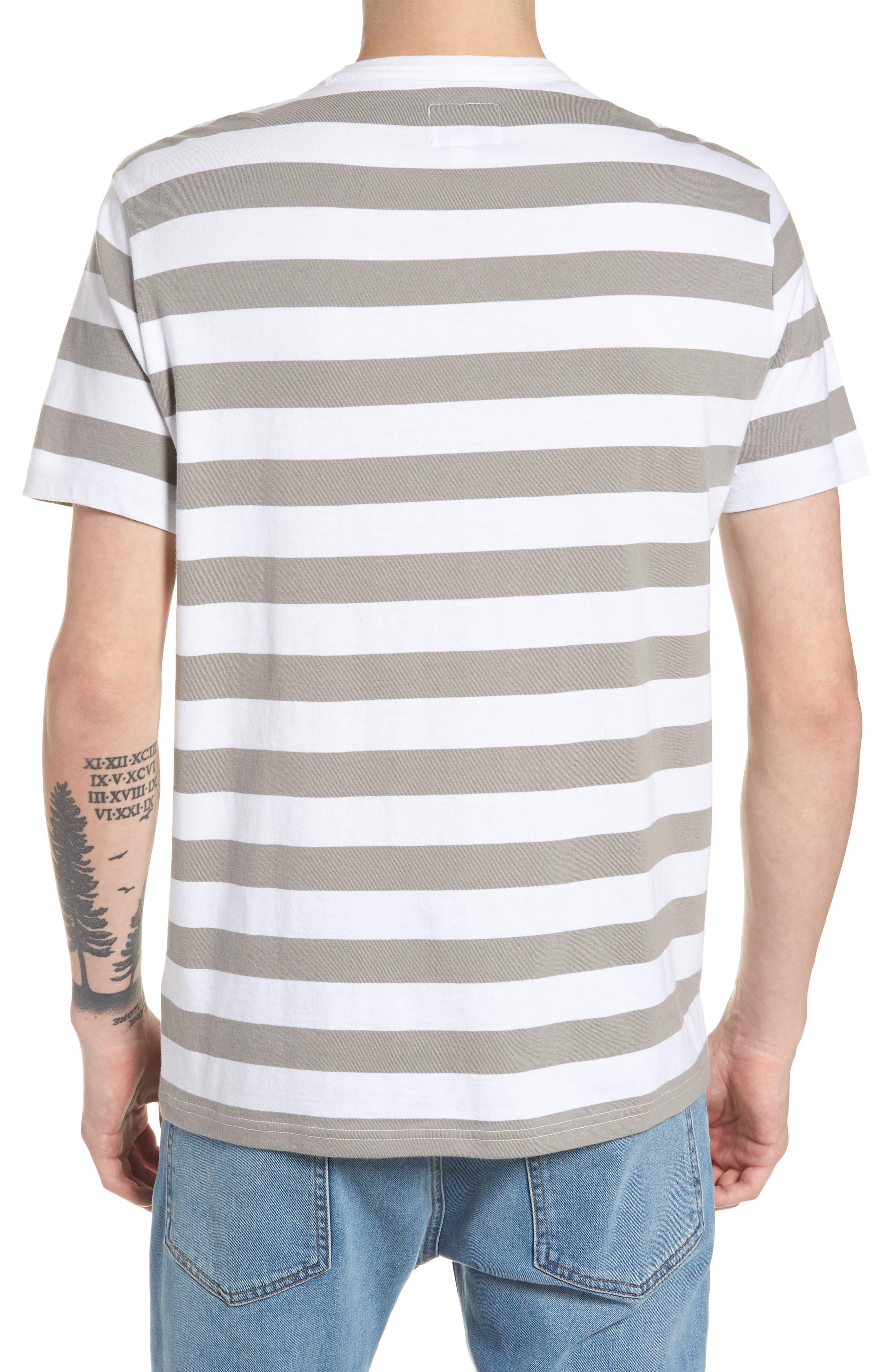 Stripe Reissue T-Shirt,                             Alternate thumbnail 2, color,                             Standard White