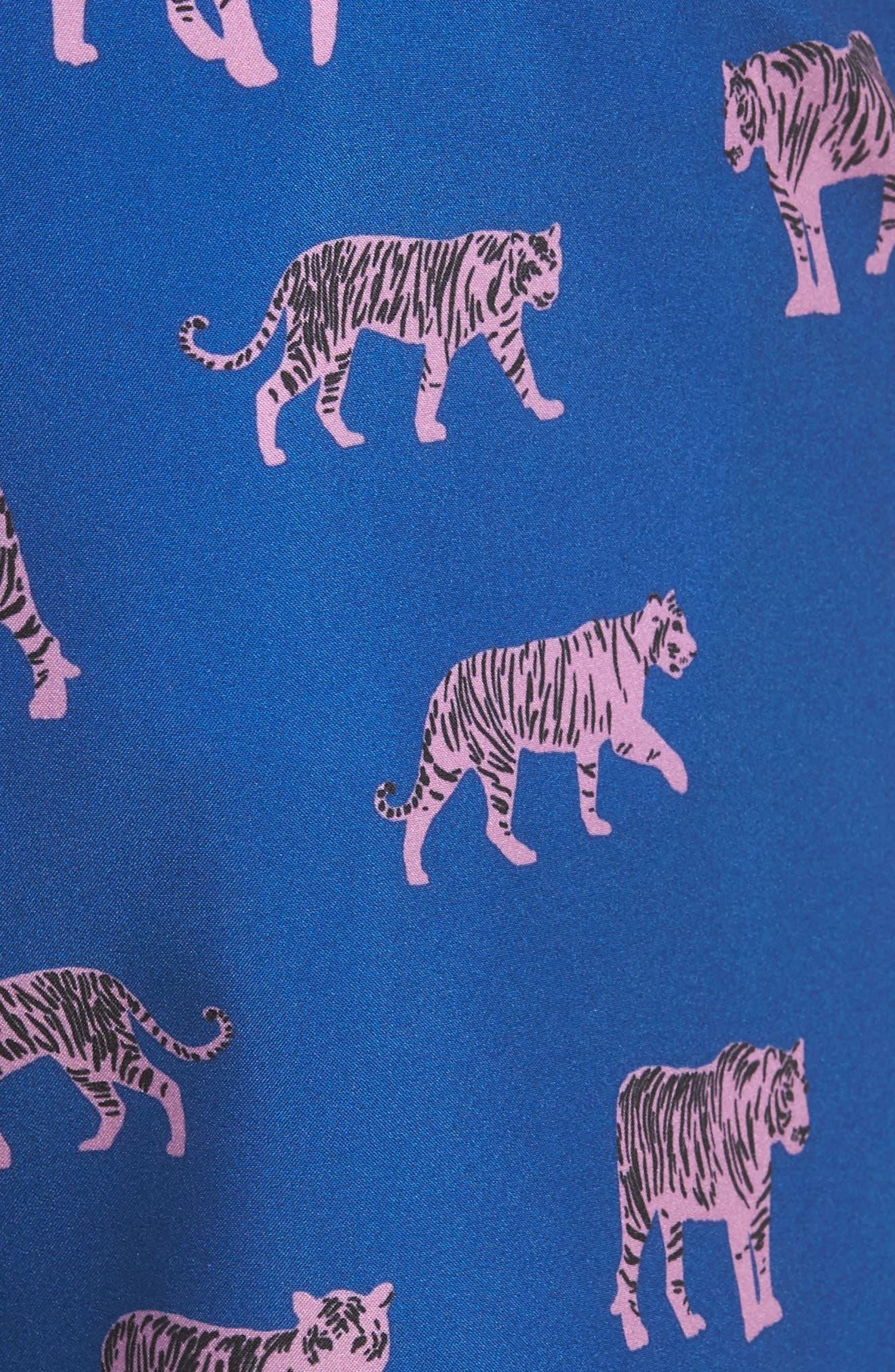 Banzai 7-Inch Swim Trunks,                             Alternate thumbnail 5, color,                             Le Tigre Print
