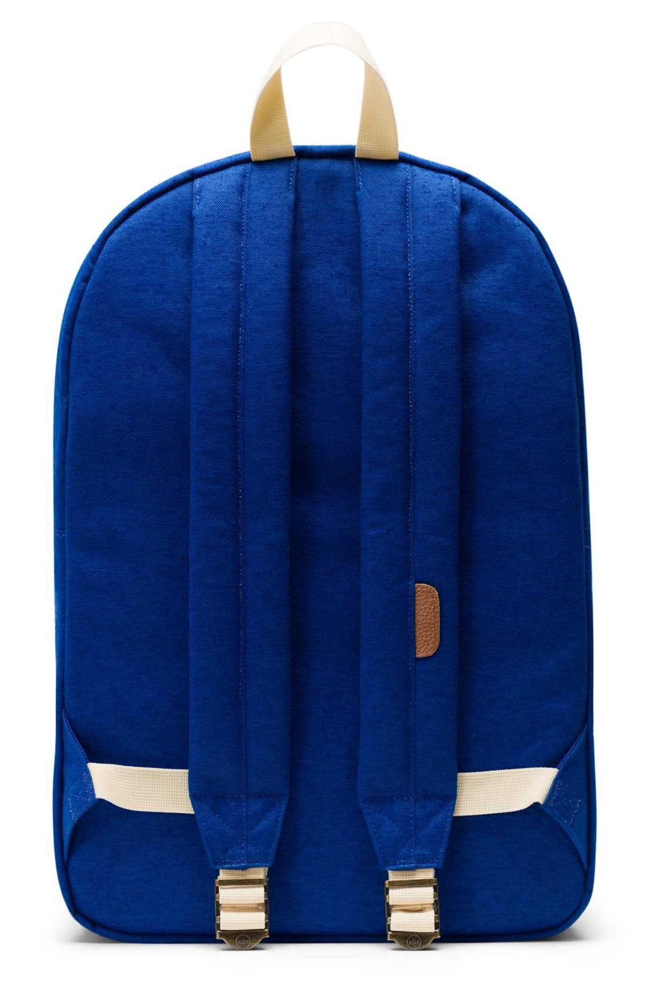 HERSCHEL SUPPLY CO. HERITAGE - MLB COOPERSTOWN COLLECTION BACKPACK - BLUE, MILWAUKEE BREWERS