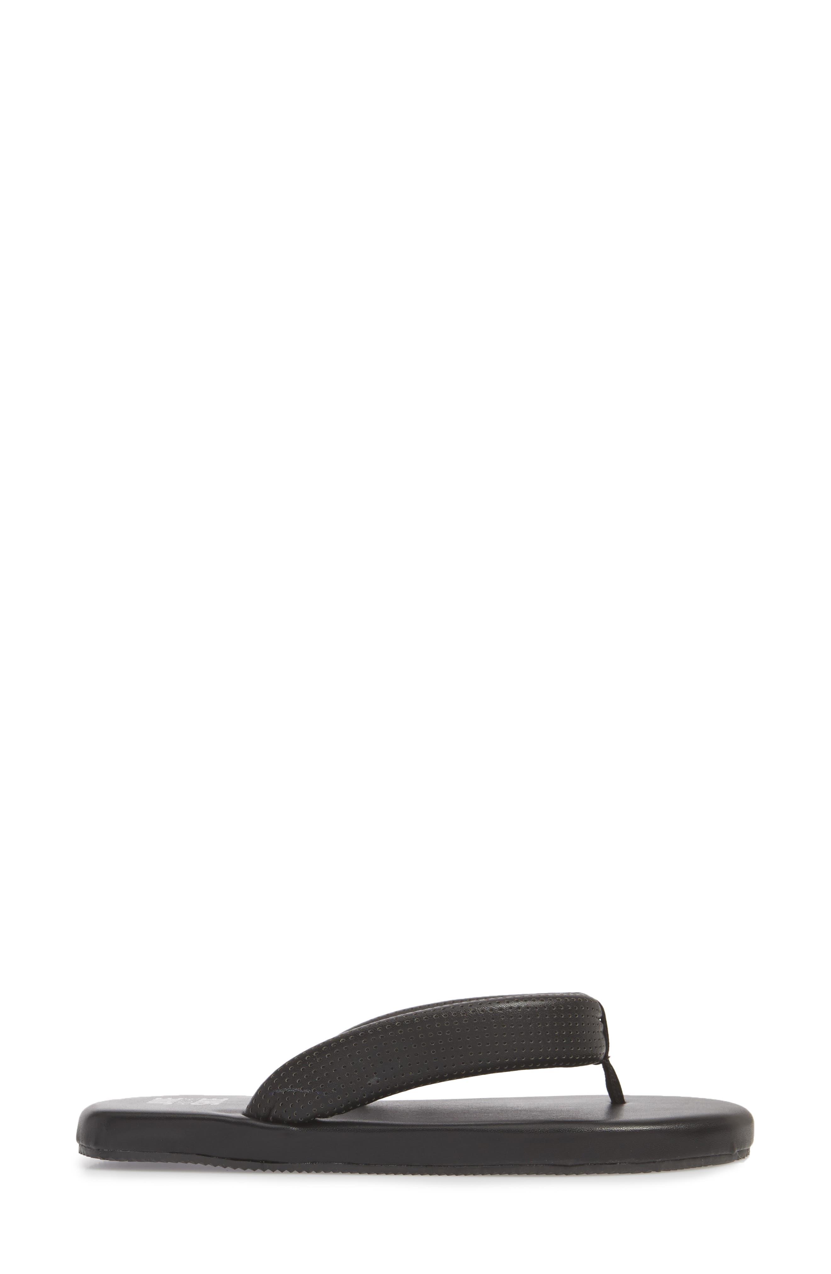 Jaime Plush Flip Flop,                             Alternate thumbnail 6, color,                             Black
