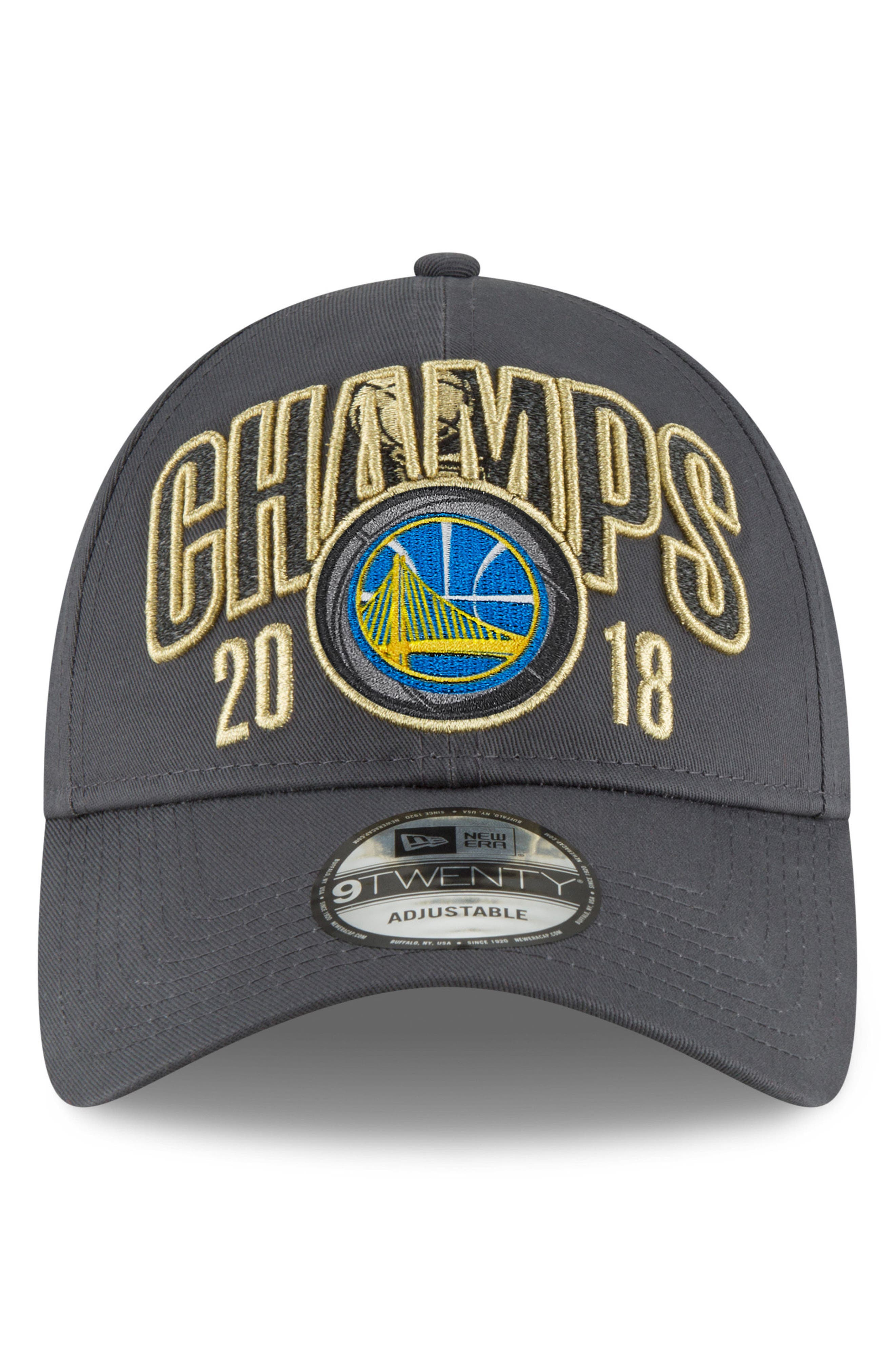 2018 NBA Champions - Golden State Warriors 9Twenty Baseball Cap,                             Alternate thumbnail 4, color,                             Golden State Warriors