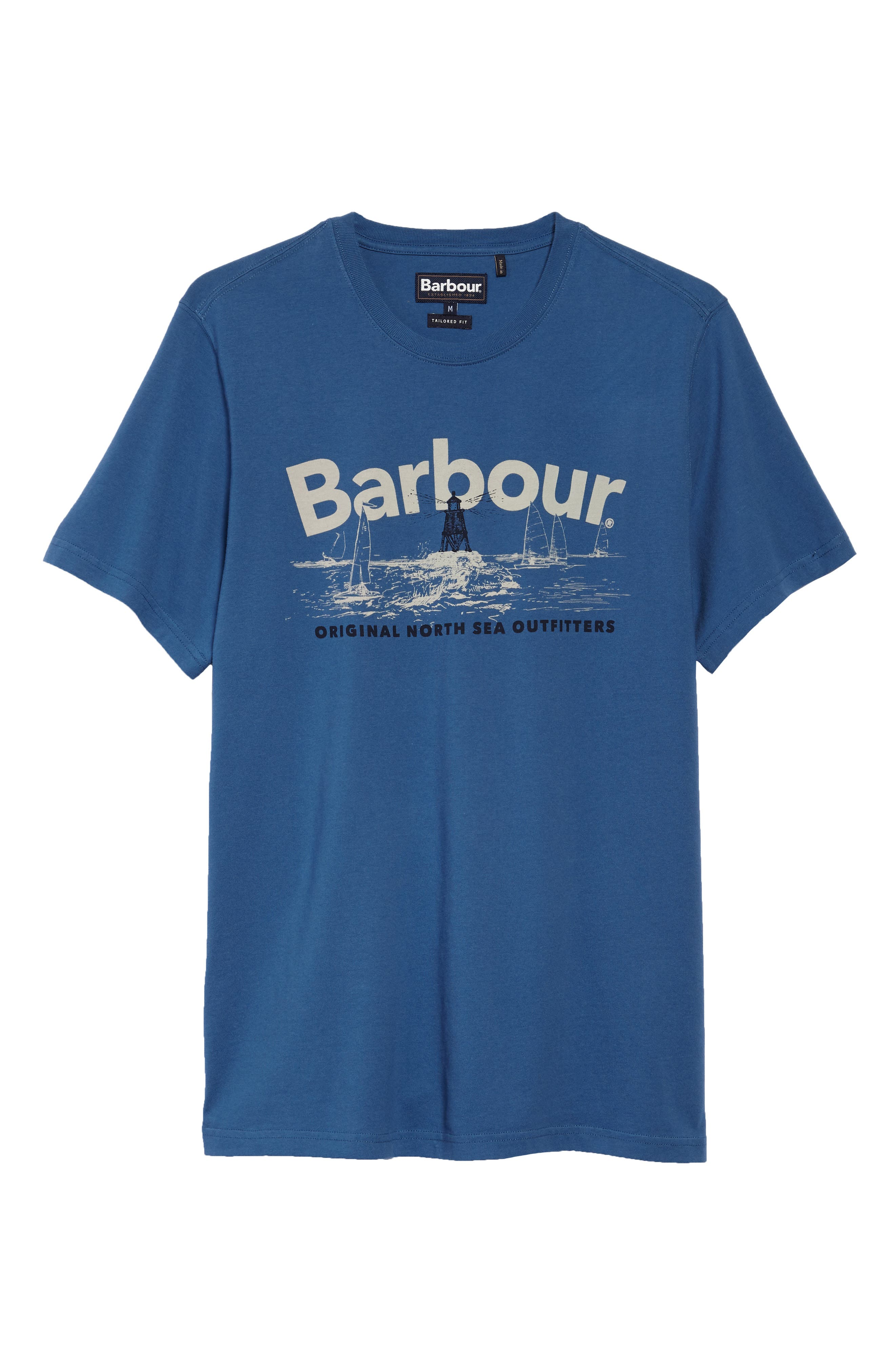 Waterline Graphic T-Shirt,                             Alternate thumbnail 6, color,                             Sea Blue