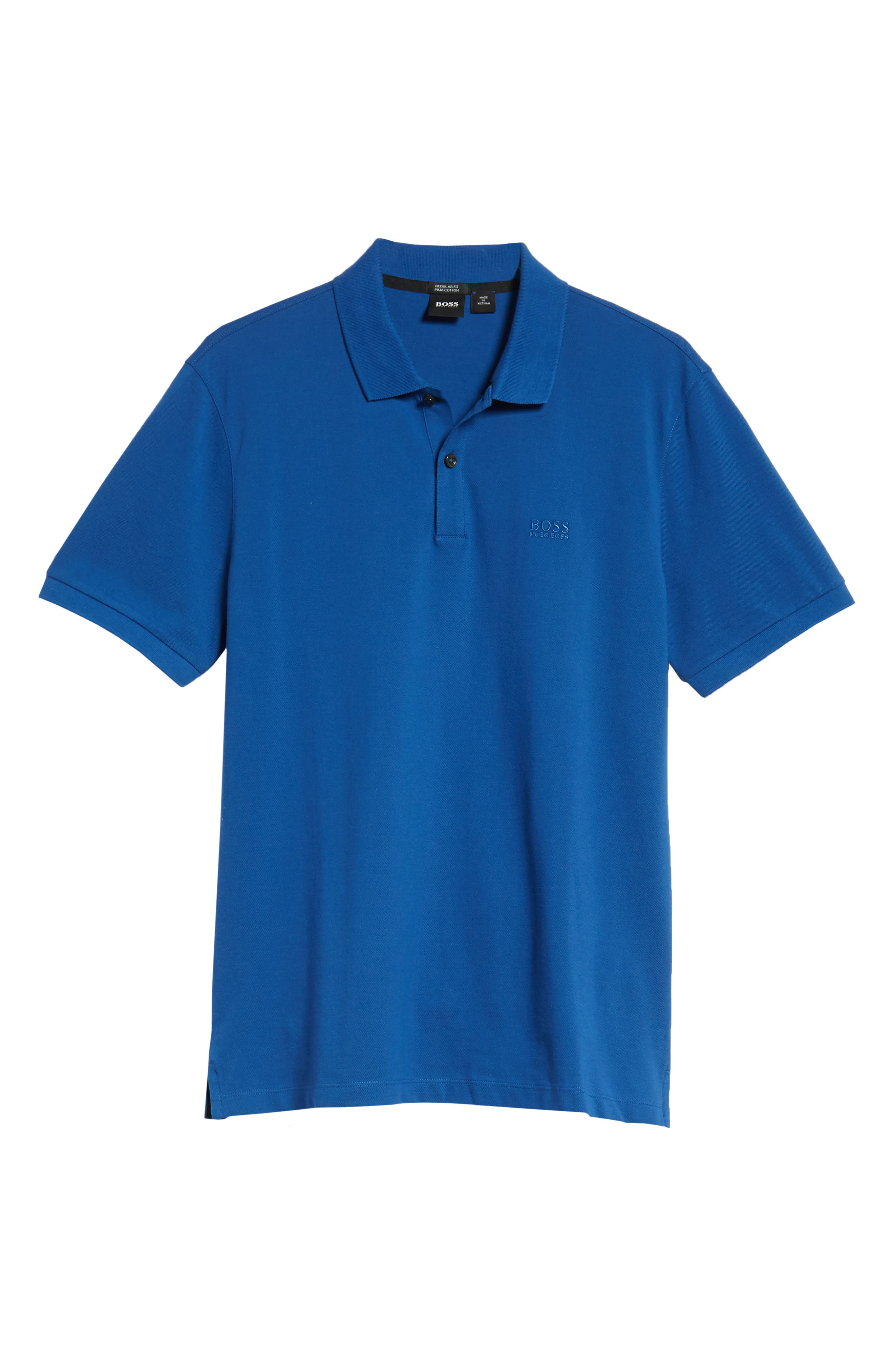 'Pallas' Regular Fit Logo Embroidered Polo Shirt,                             Alternate thumbnail 6, color,                             Open Blue
