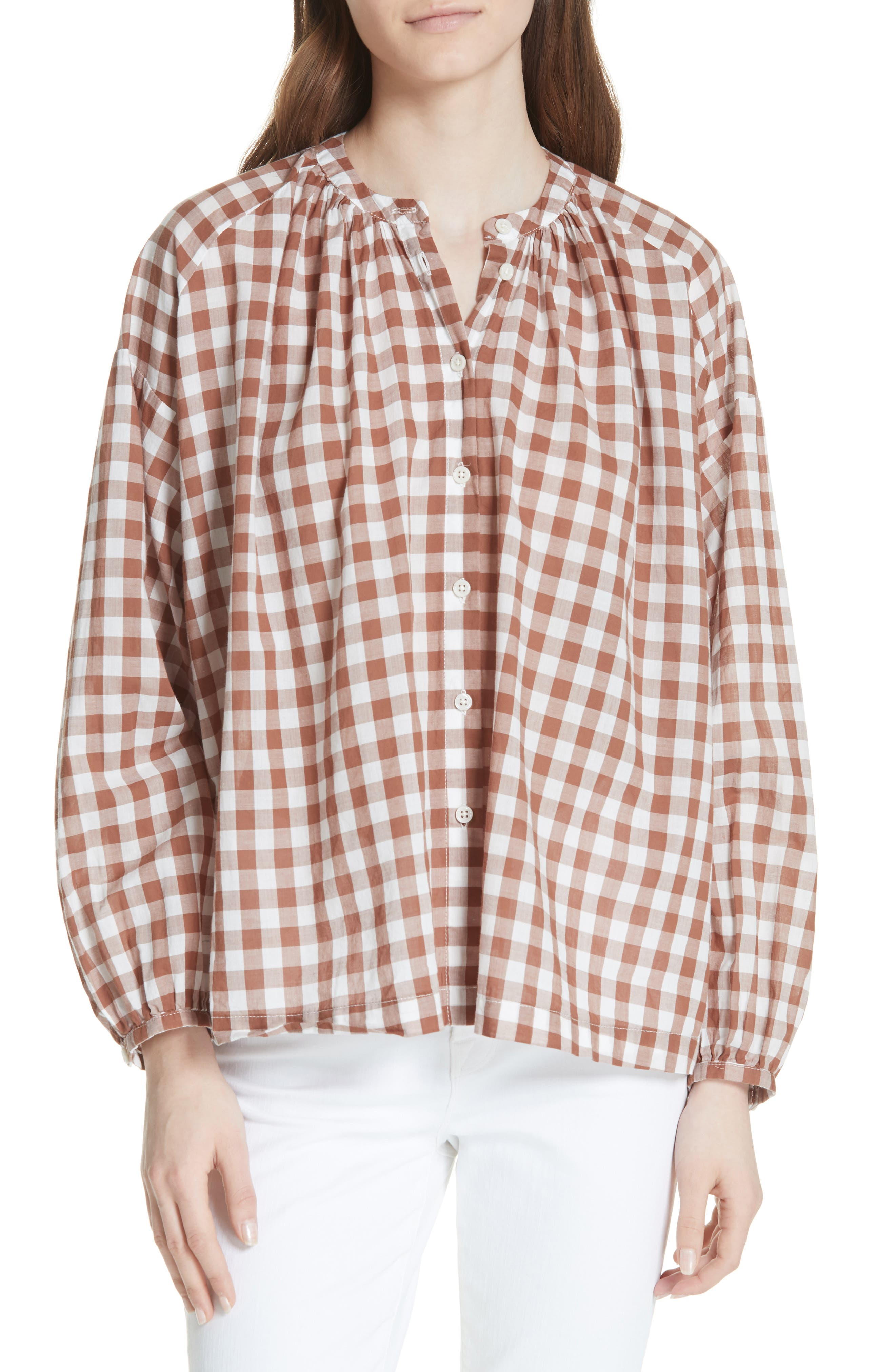 The Handsome Button-Up Shirt,                         Main,                         color, Carob Check