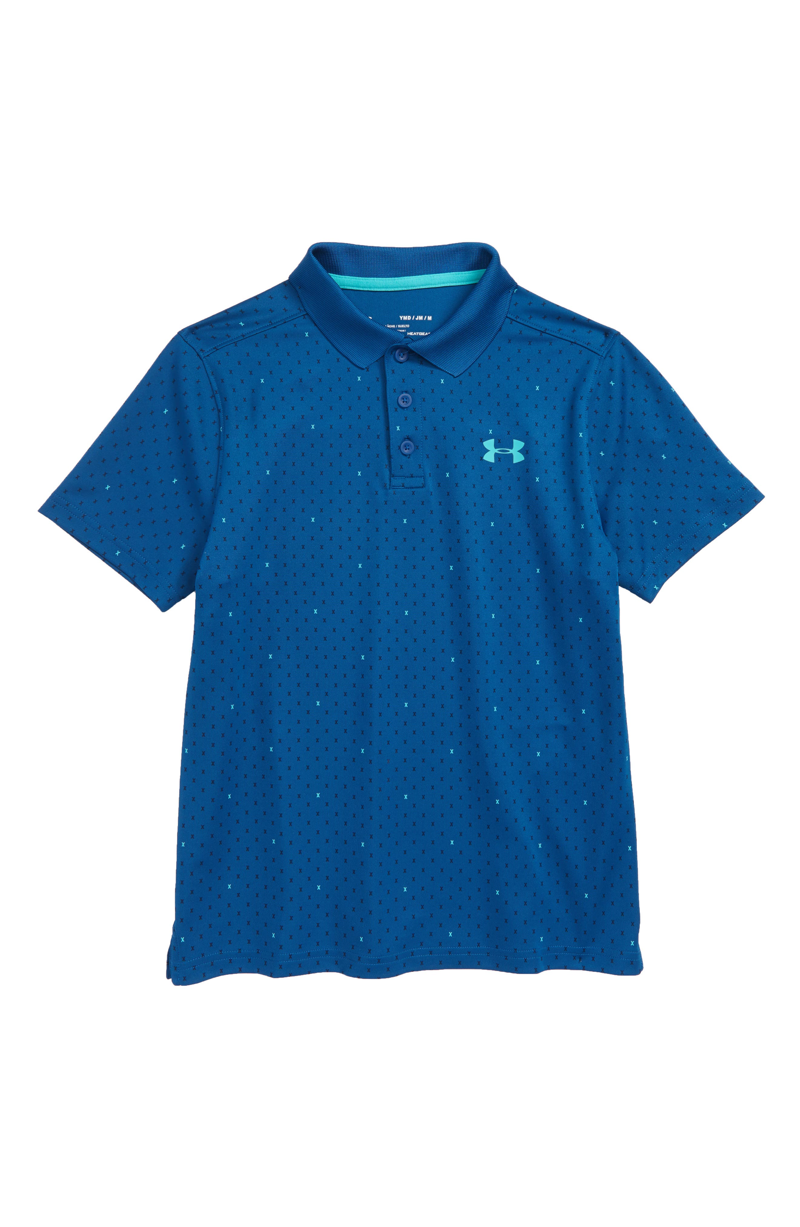 HeatGear<sup>®</sup> Polo,                         Main,                         color, Moroccan Blue/ Teal Punch