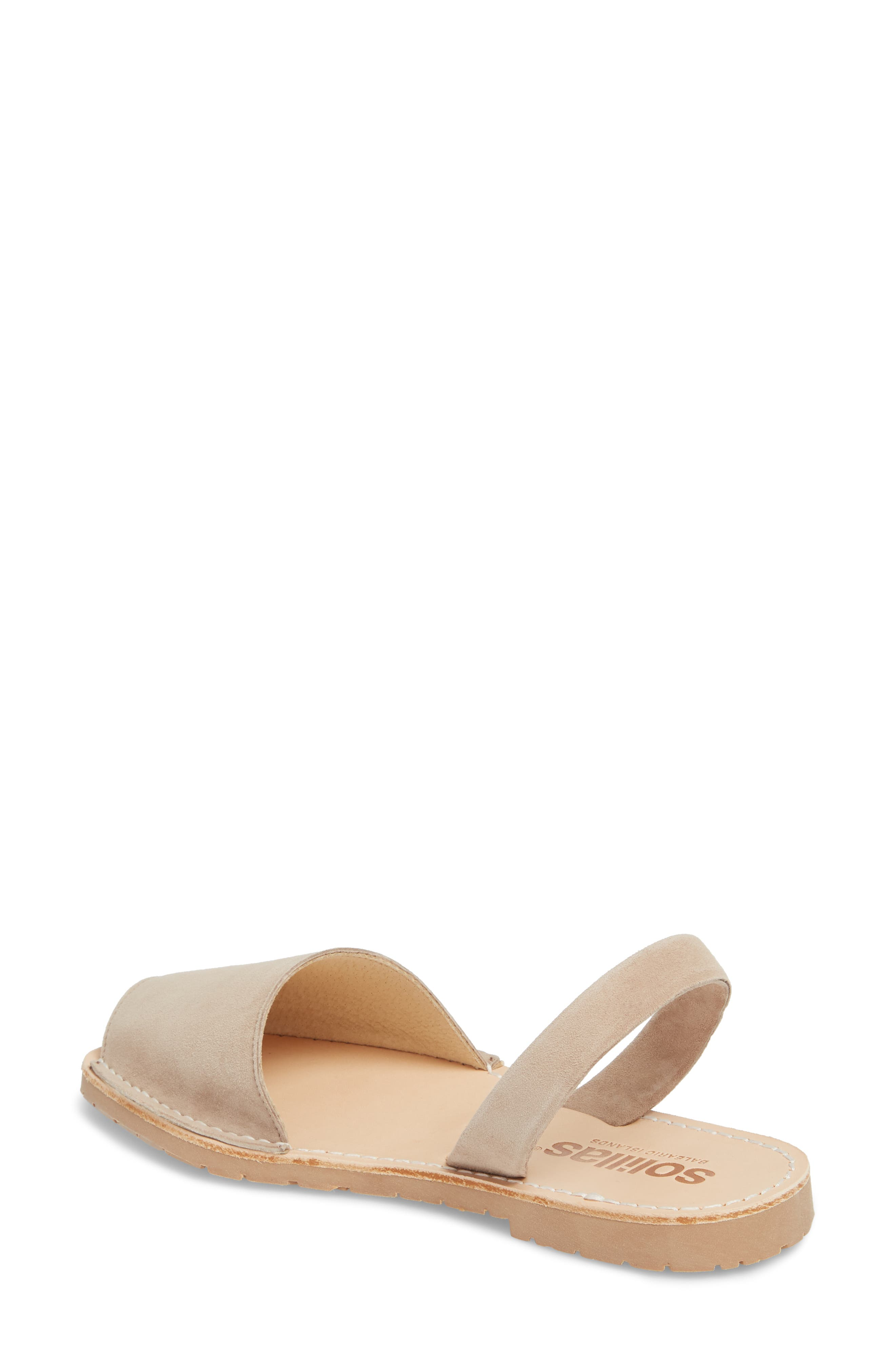 Flat Sandal,                             Alternate thumbnail 2, color,                             Taupe