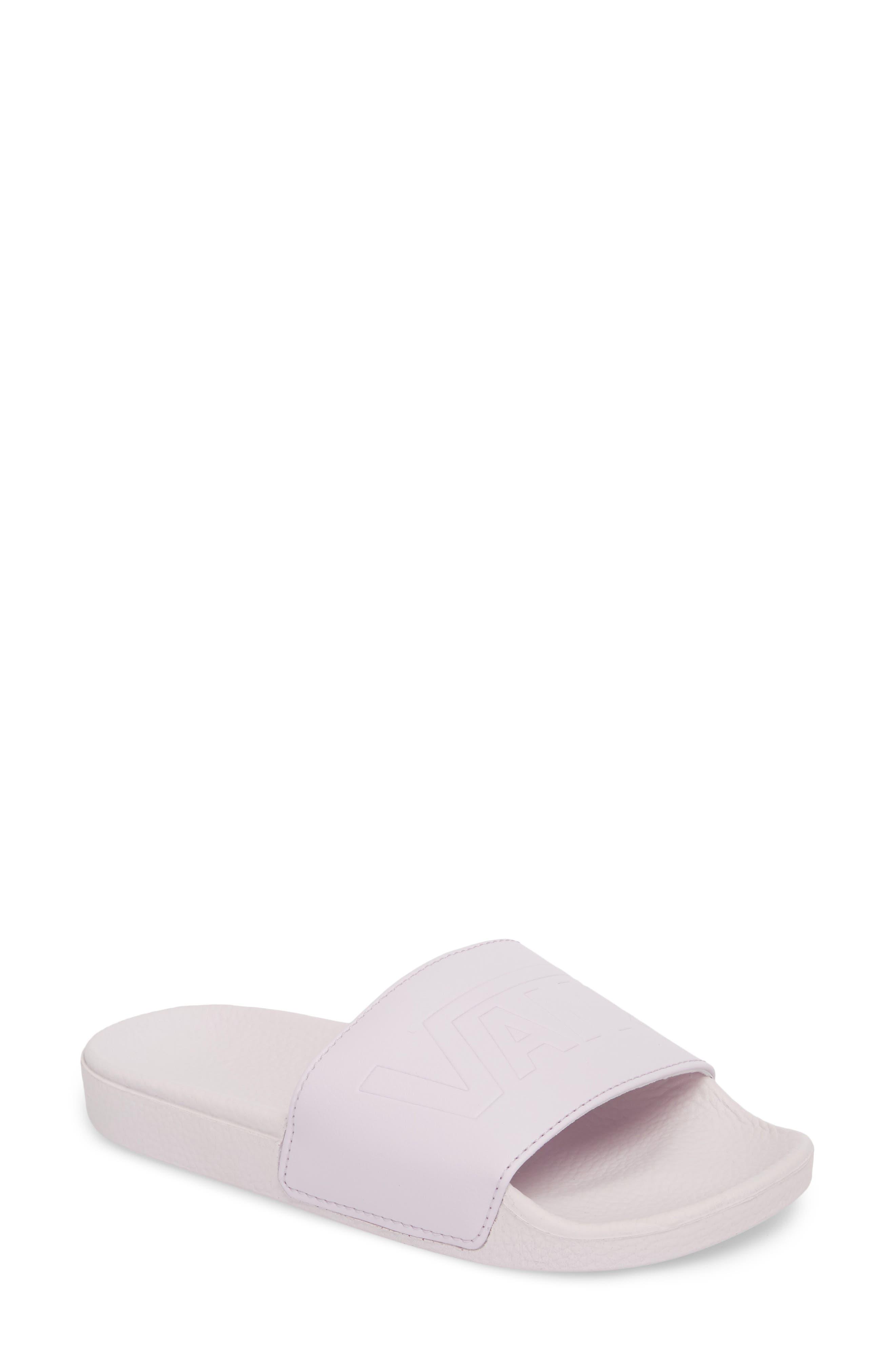 Slide-On Sandal,                         Main,                         color, Lavender Fog