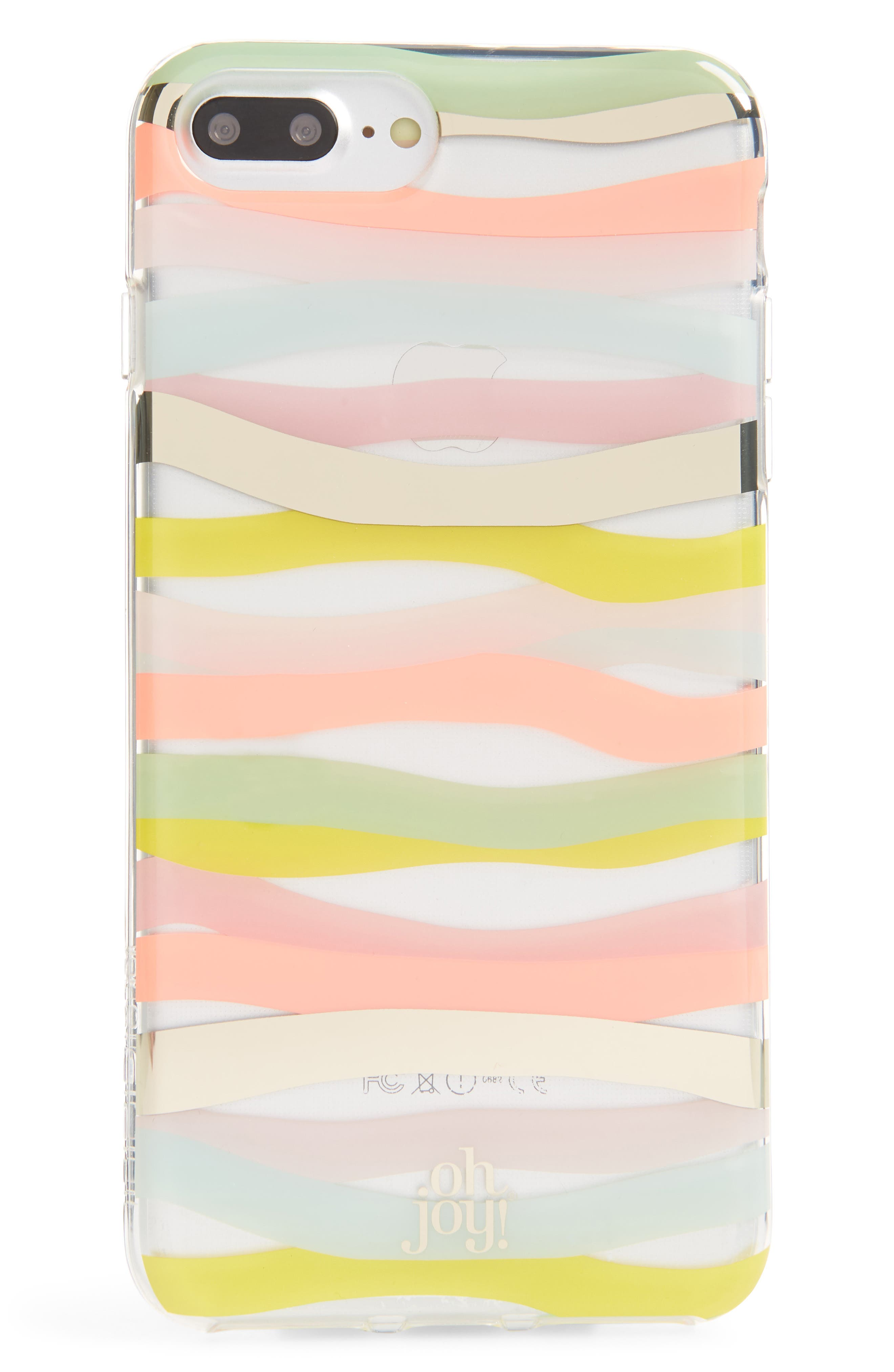 Oh Joy Stripe iPhone 7/8 & 7/8 Plus Case,                             Main thumbnail 1, color,                             Pink Multi